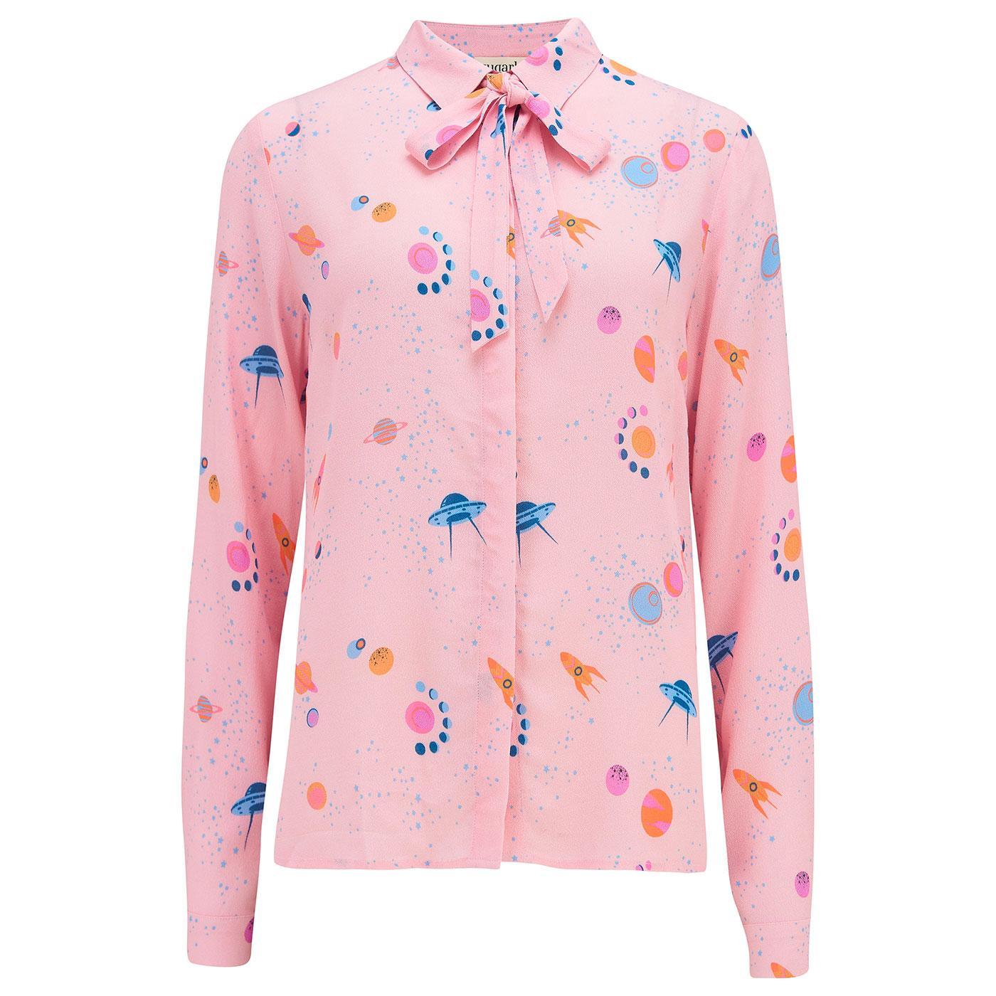 Catrina SUGARHILL BRIGHTON UFO Retro Shirt in Pink