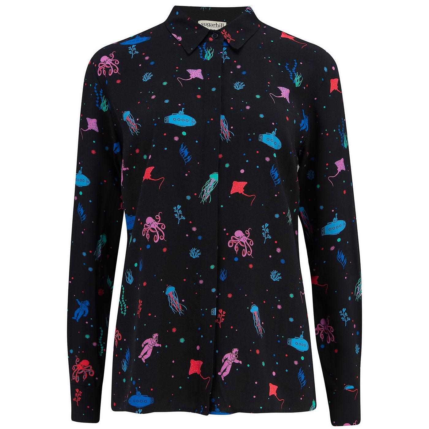 Joy SUGARHILL BRIGHTON Deep Sea Retro Shirt