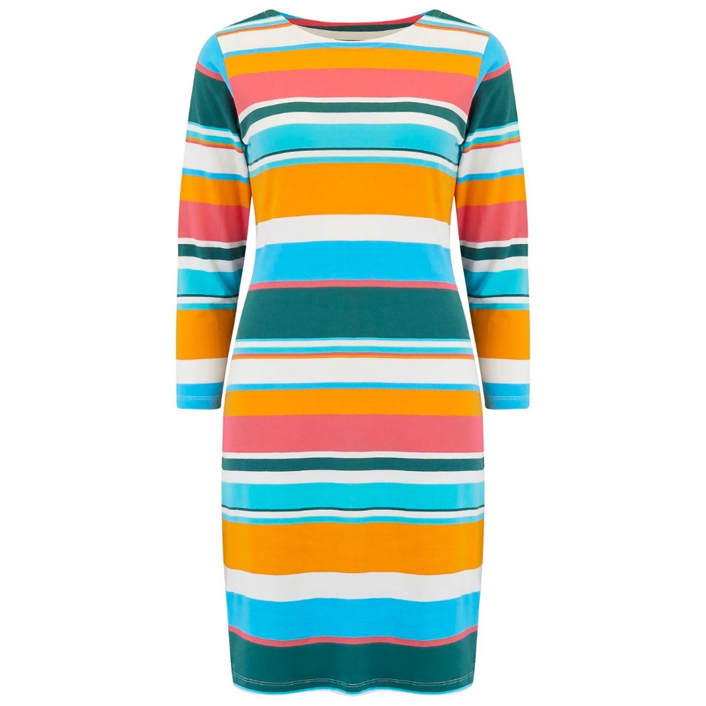Brighton SUGARHILL Retro 60s Riviera Stripe Dress