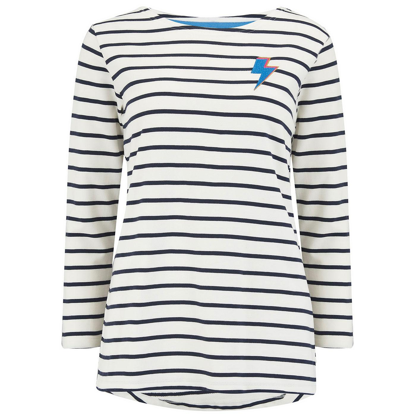Brighton Thunderstruck SUGARHILL Retro Breton Top