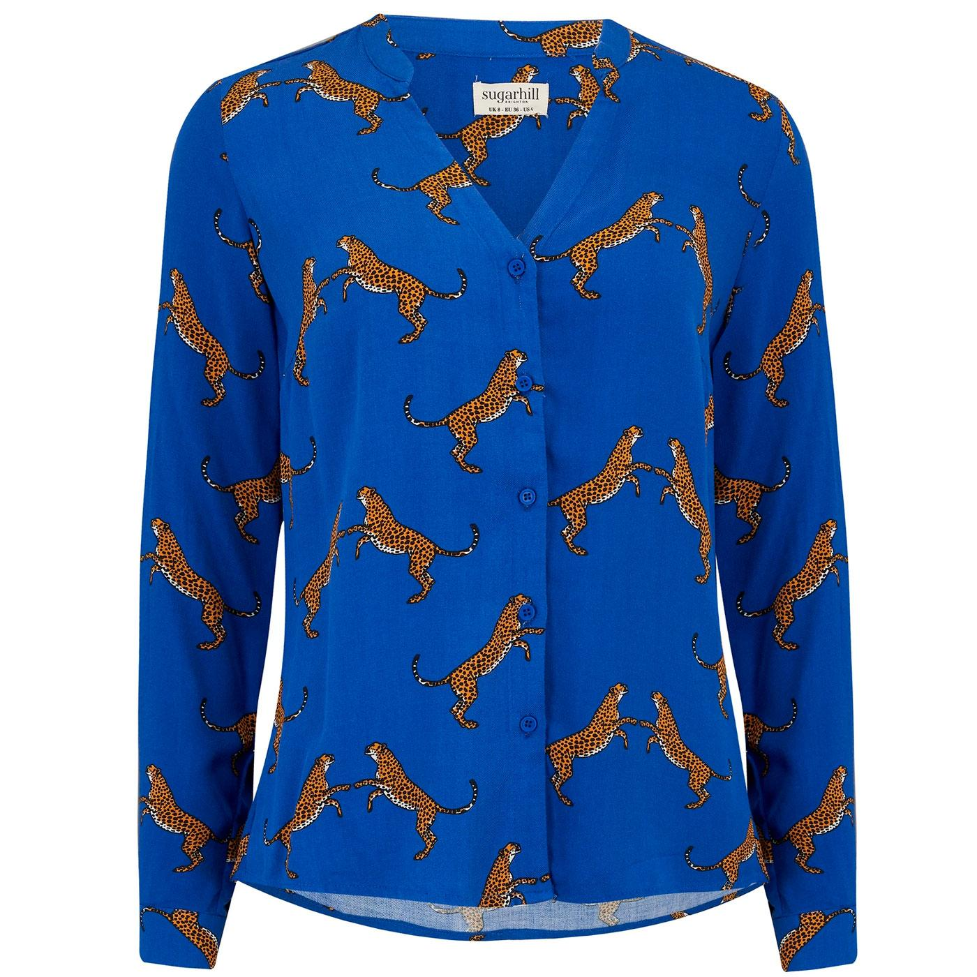 Tiana SUGARHILL BRIGHTON Dancing Cheetahs Blouse