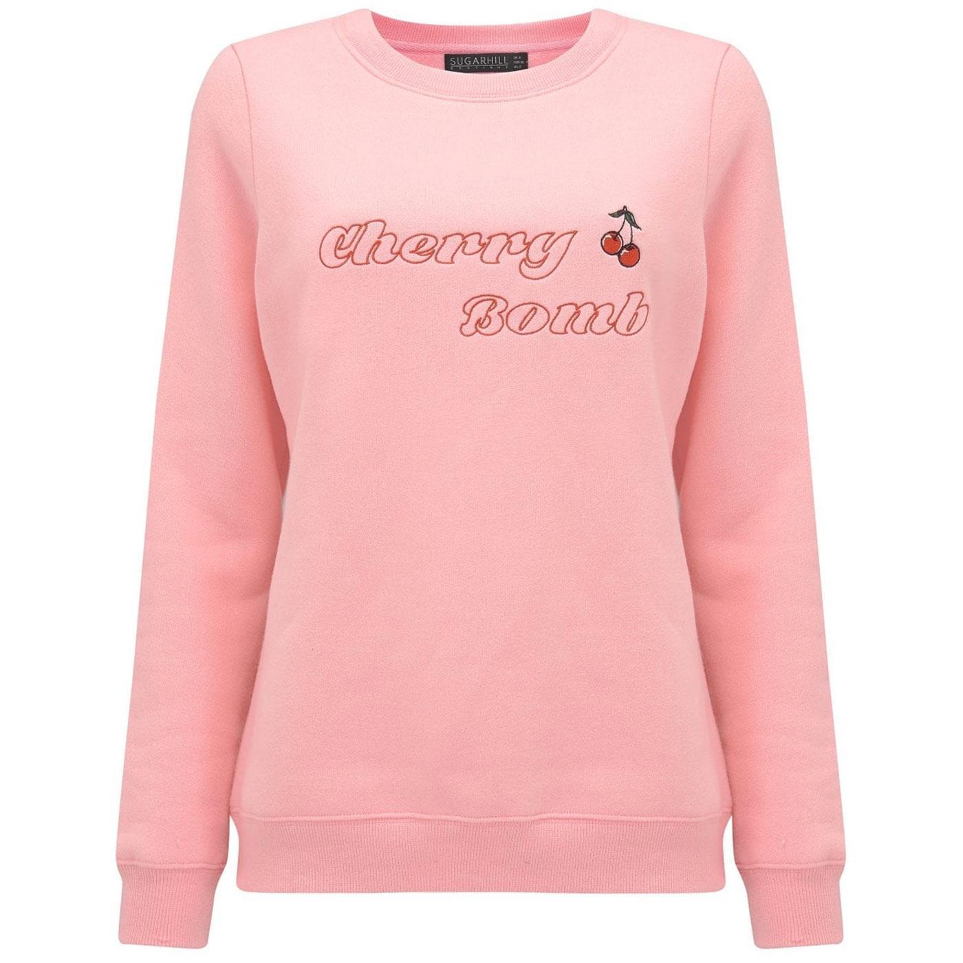 Alanis SUGARHILL BOUTIQUE Cherry Sweatshirt Pink