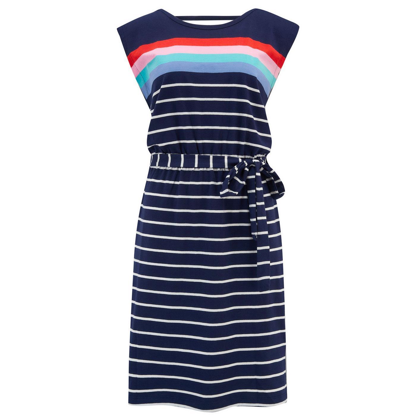 Hetty SUGARHILL Retro 70s Coastal Stripe Dress