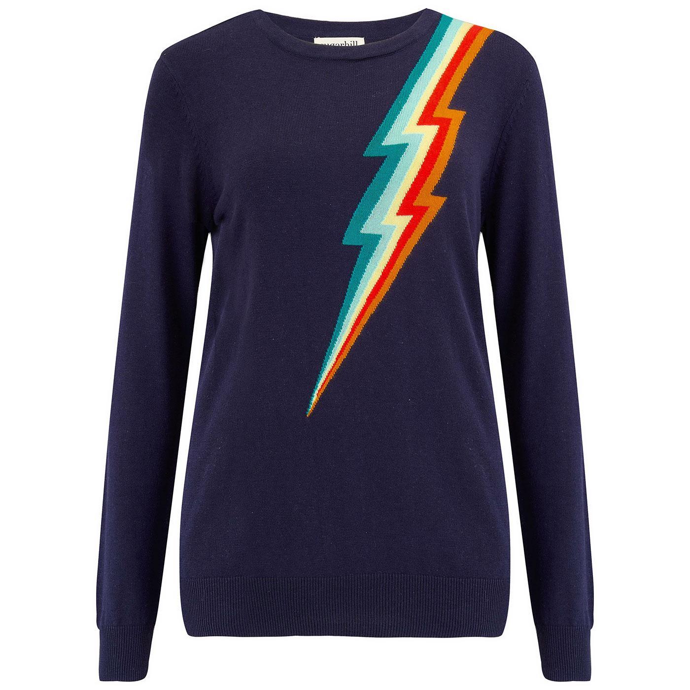 Rita SUGARHILL 70s Rainbow Lightning Flash Jumper