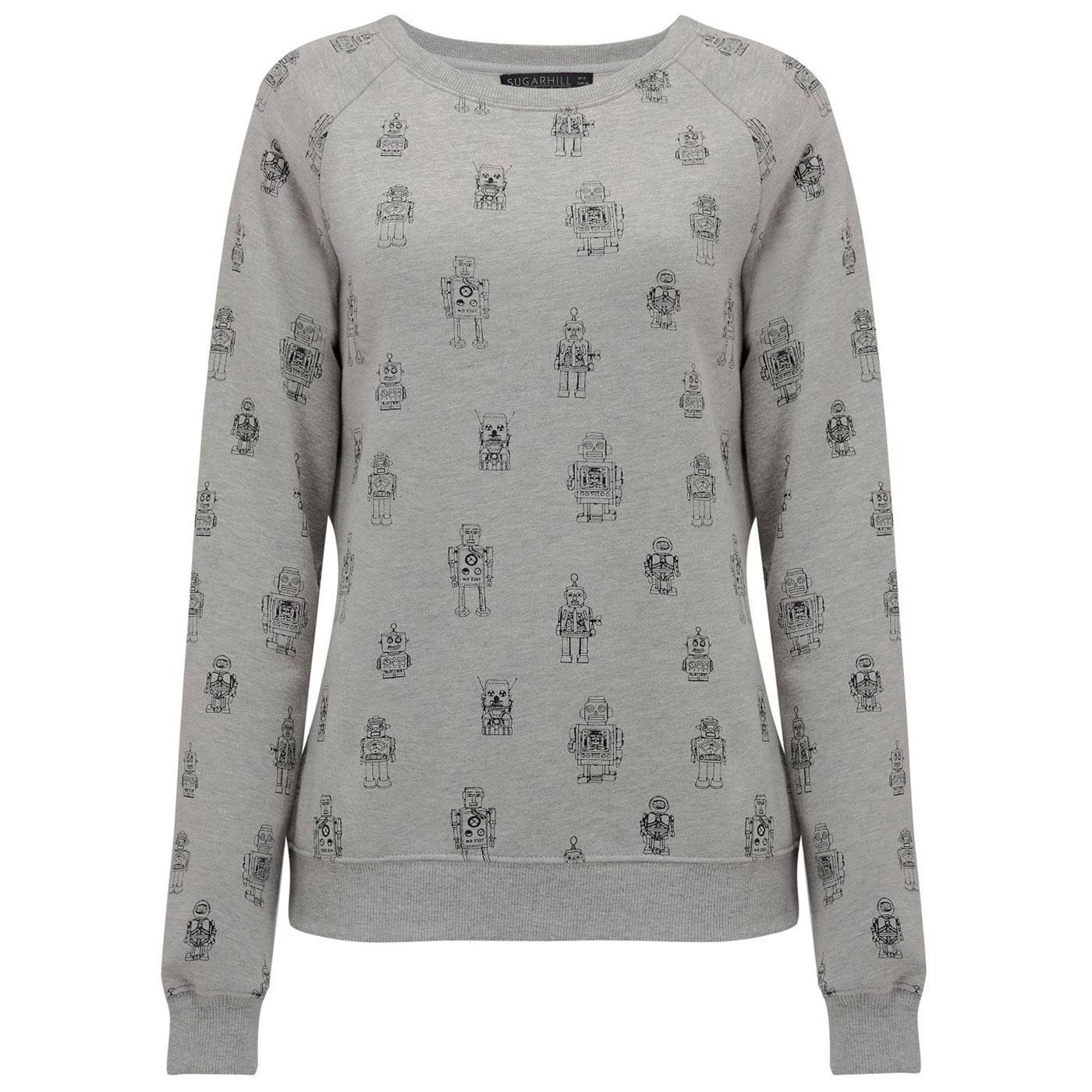 Laurie Robo Pop SUGARHILL BOUTIQUE Sweatshirt Grey