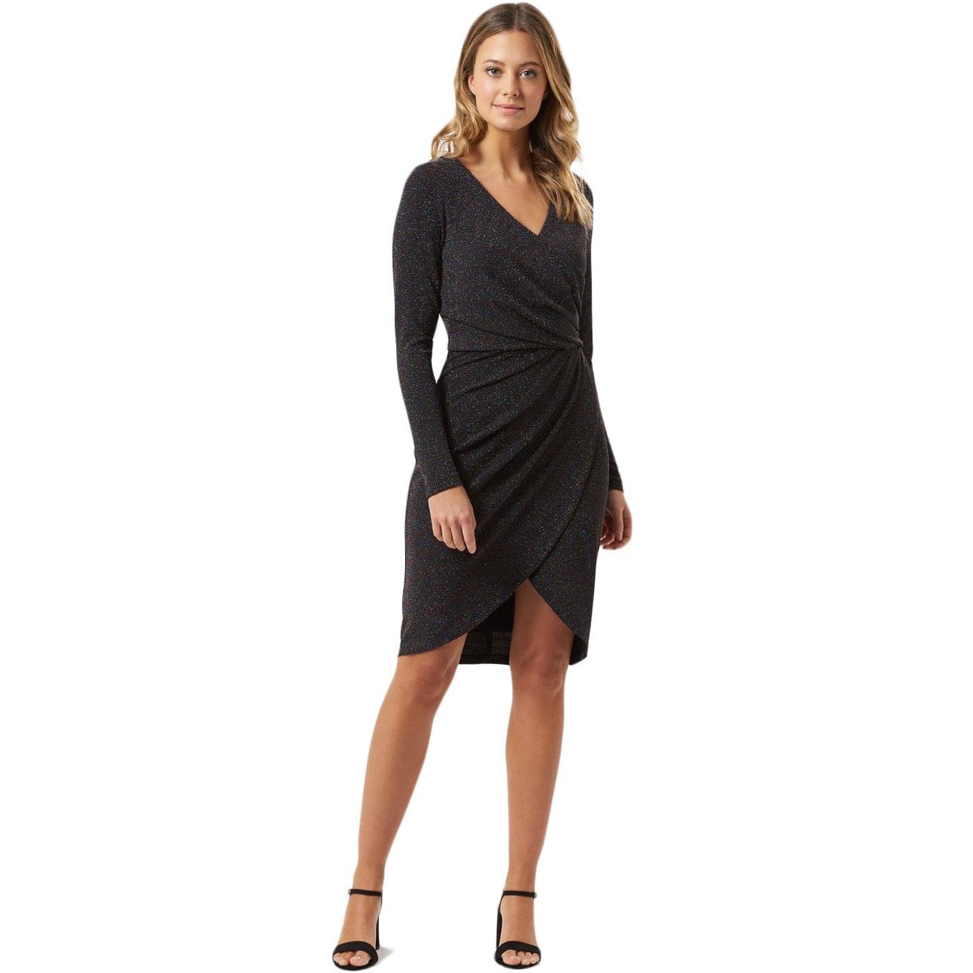 Kelli SUGARHILL BRIGHTON Retro Sparkle Wrap Dress
