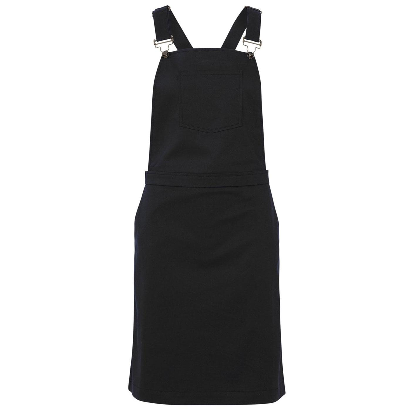 Toni SUGARHILL BOUTIQUE Retro Black Dungaree Dress
