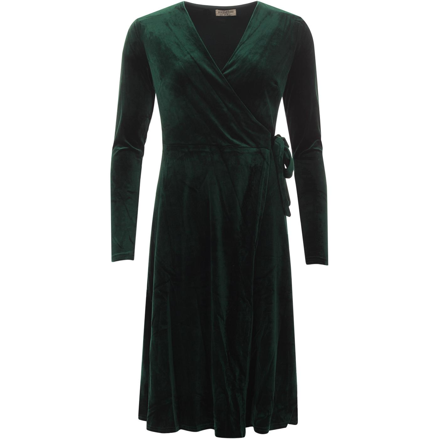 Trinity SUGARHILL BRIGHTON Velvet Midi Wrap Dress