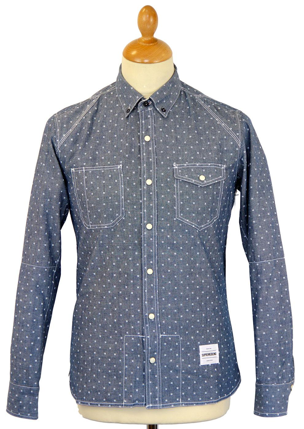 Union Chambray SUPREMEBEING Retro Western Shirt