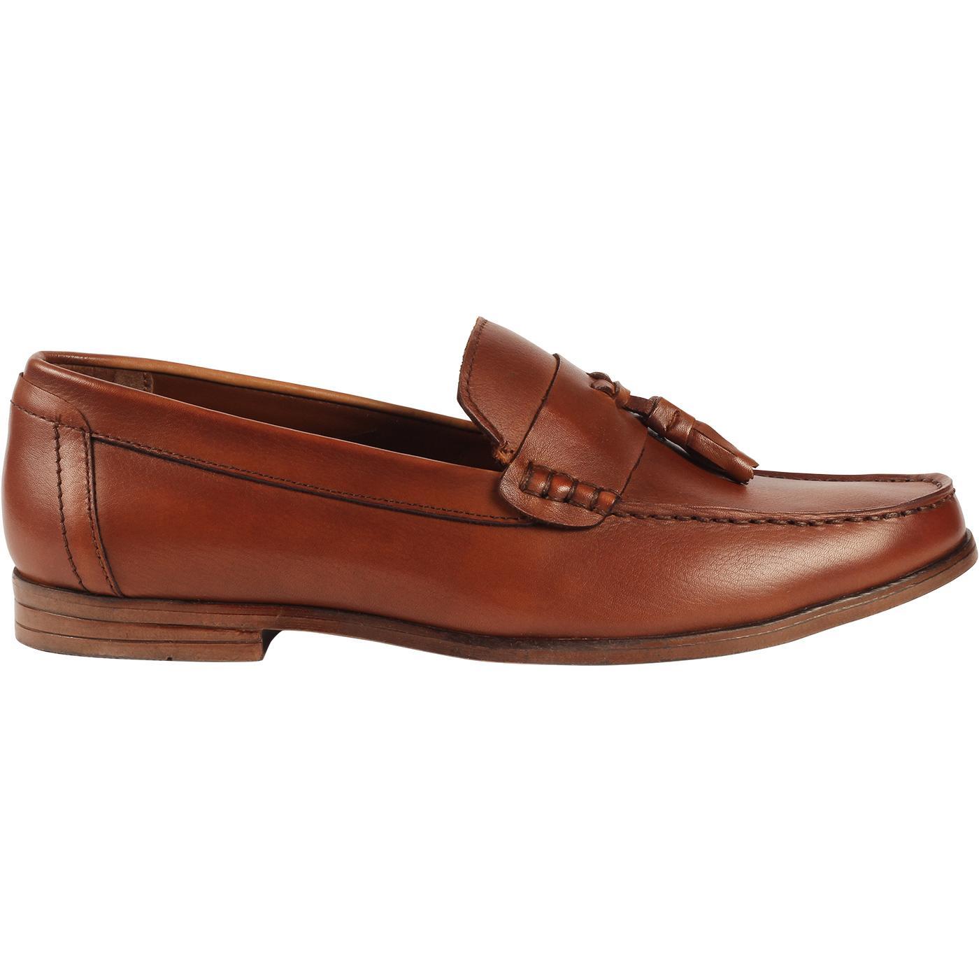 LAMBRETTA Men's Retro Mod Tassel Loafers (Tan)