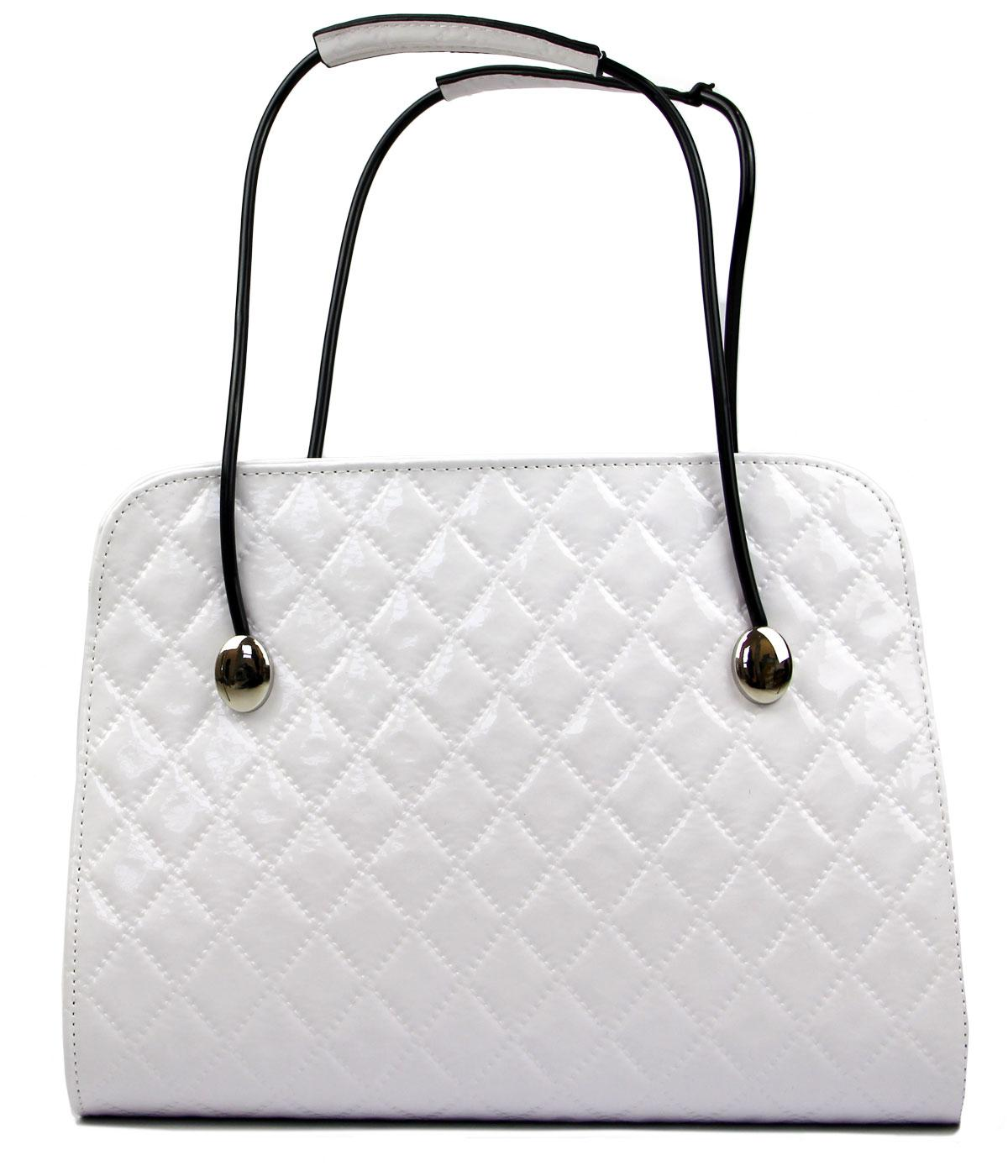 Audrey Tatyana Retro 50s Diamond Stitch Handbag W