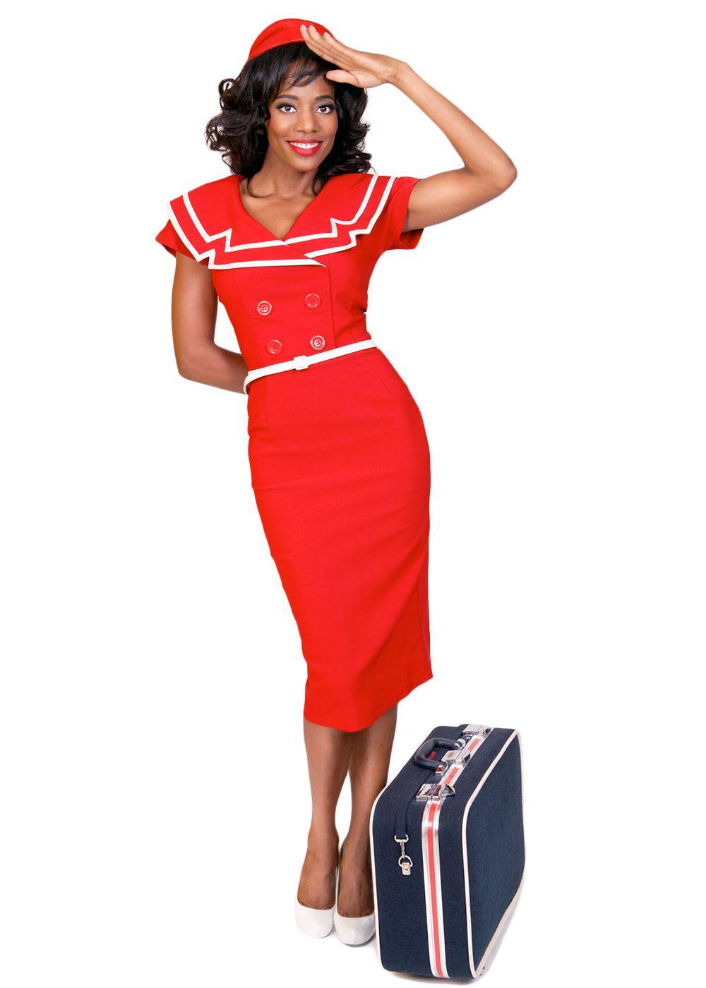 Captain TATYANA Retro 50s Sailor Girl Dress R