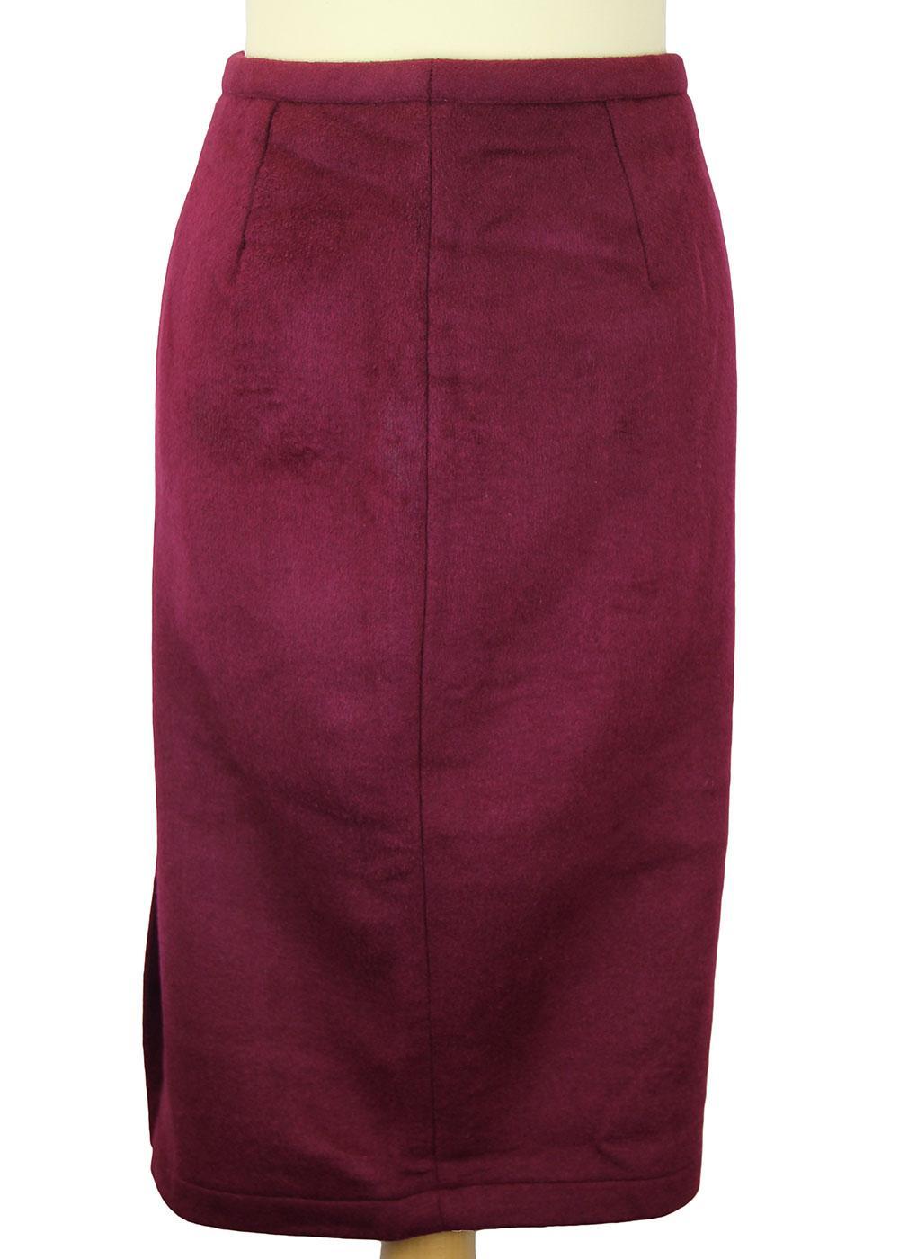 Divine Wine TATYANA Retro 50s Vintage Pencil Skirt