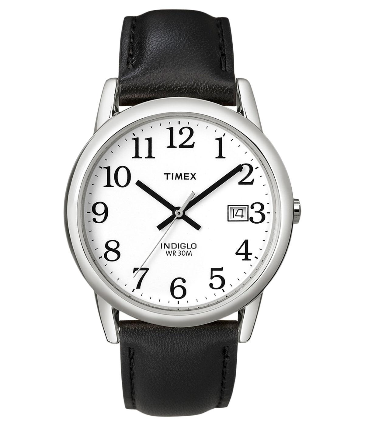TIMEX Retro Mod Easy Reader White Dial Watch BLACK