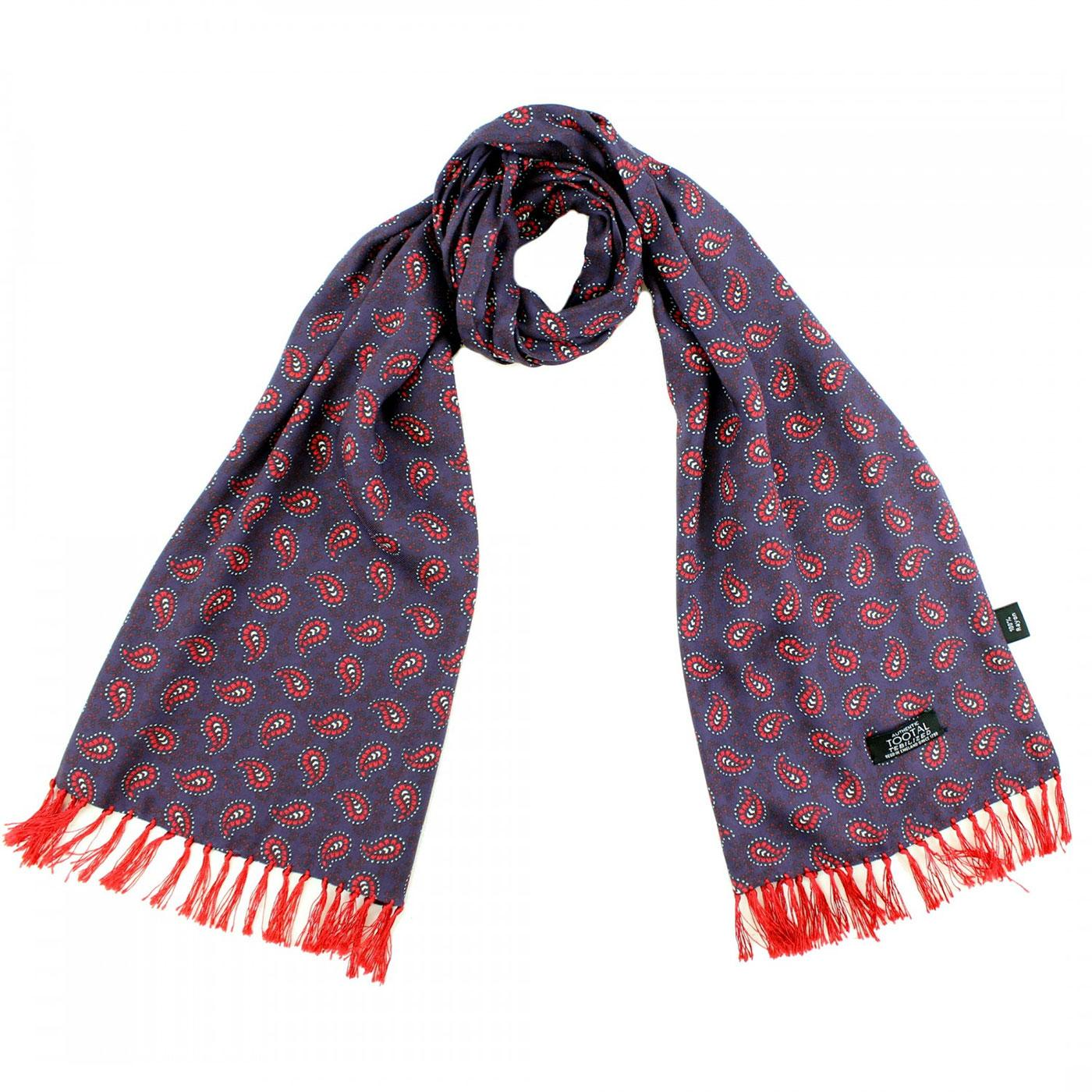 TOOTAL Retro Sixties Mod Classic Paisley Scarf N/R