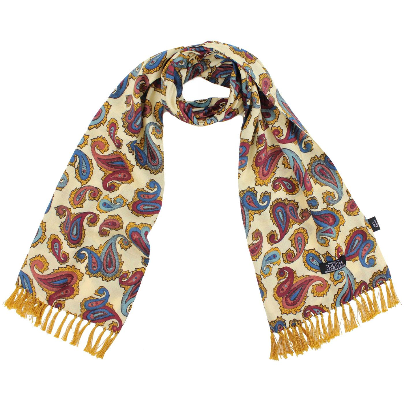 TOOTAL Retro Psychedelic 60's Double Paisley Scarf