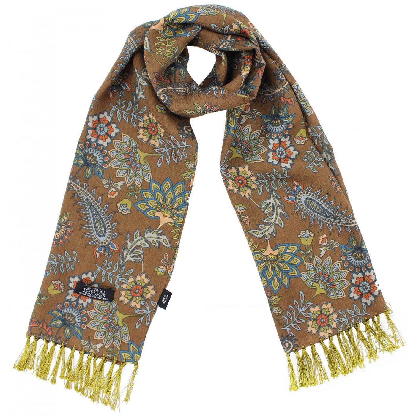 TOOTAL Mod Floral Paisley Print Rayon Scarf (E)