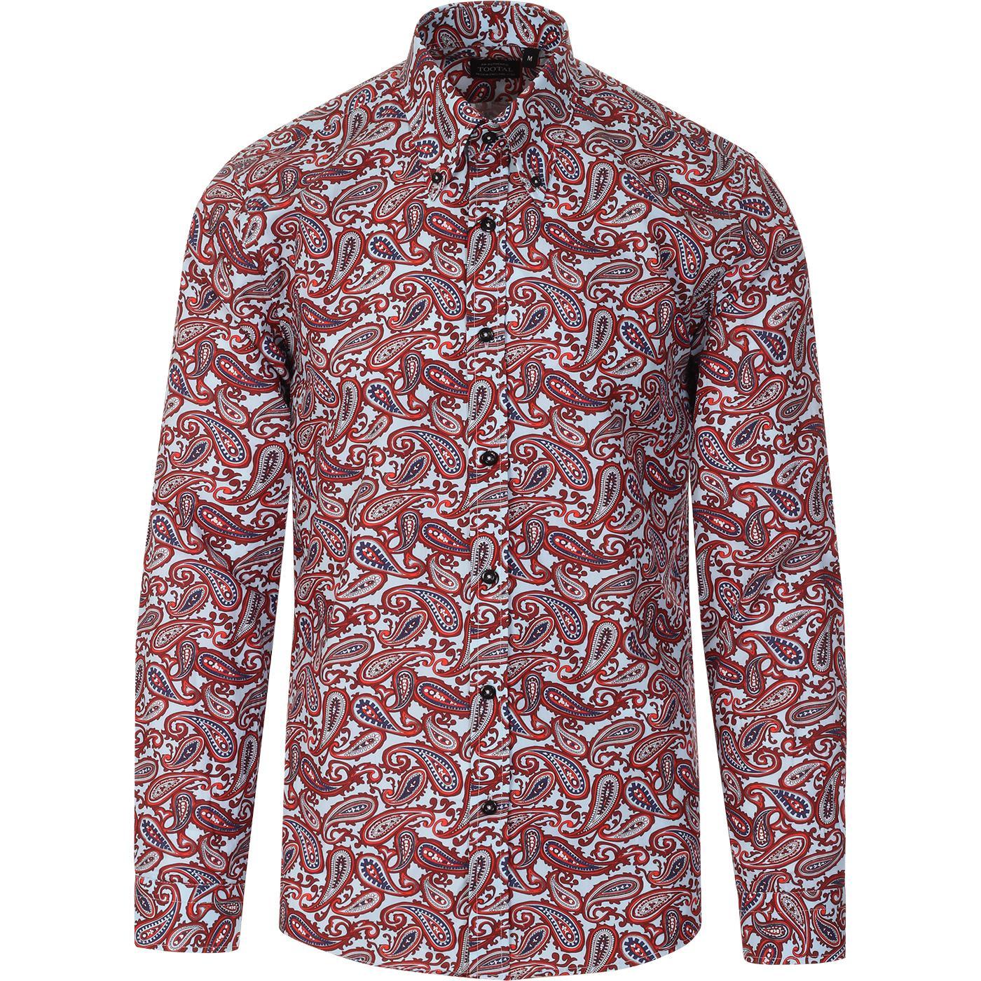 TOOTAL Mod Bold Paisley Button Down Shirt (B/R)