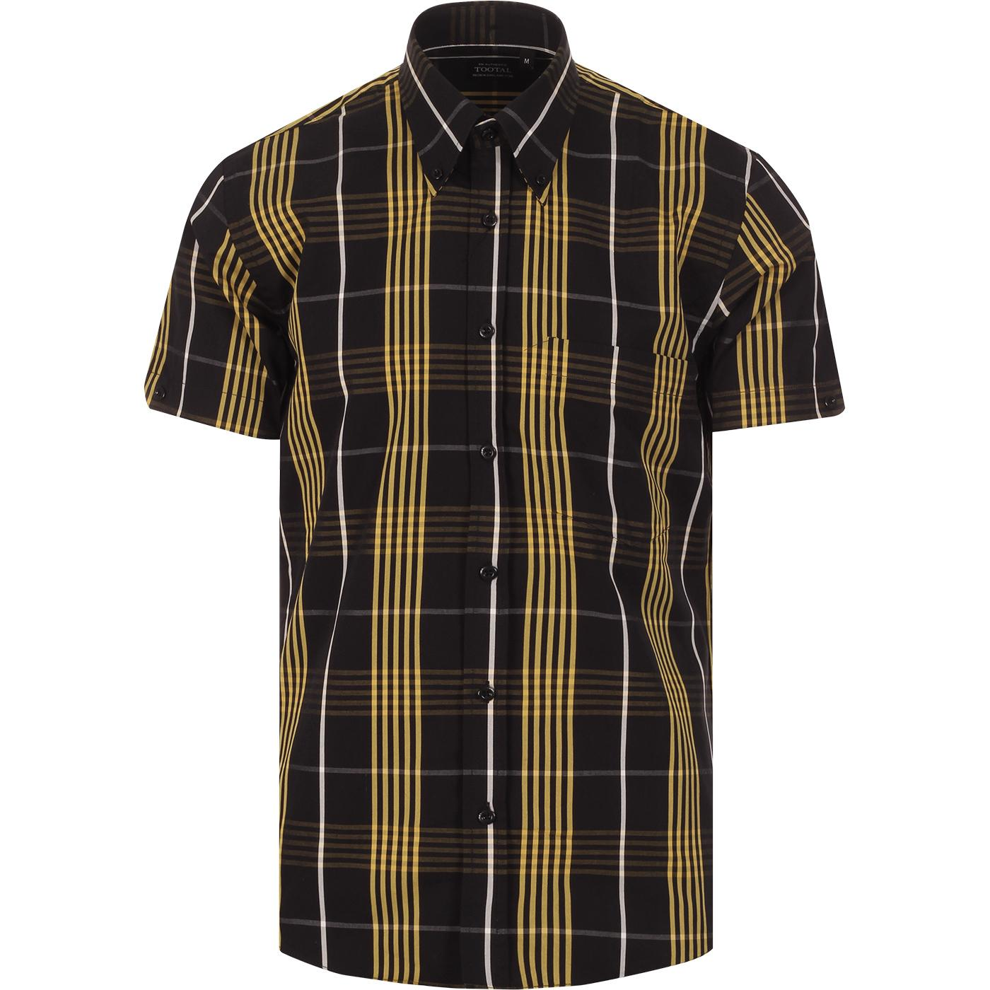 TOOTAL Classic Mod Plaid Check Button Down Shirt