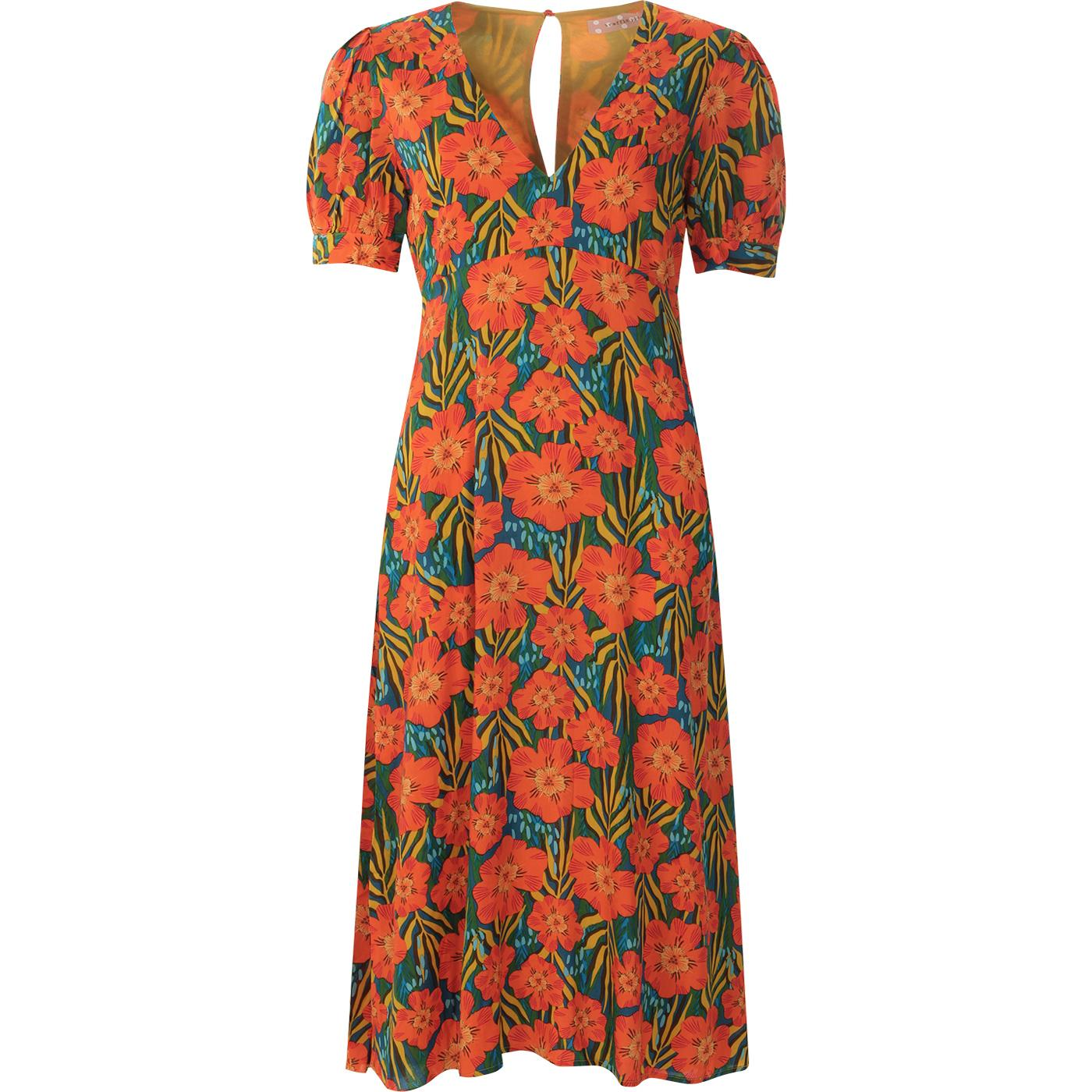 Mia TRAFFIC PEOPLE Vintage 70s Summer Flower Dress