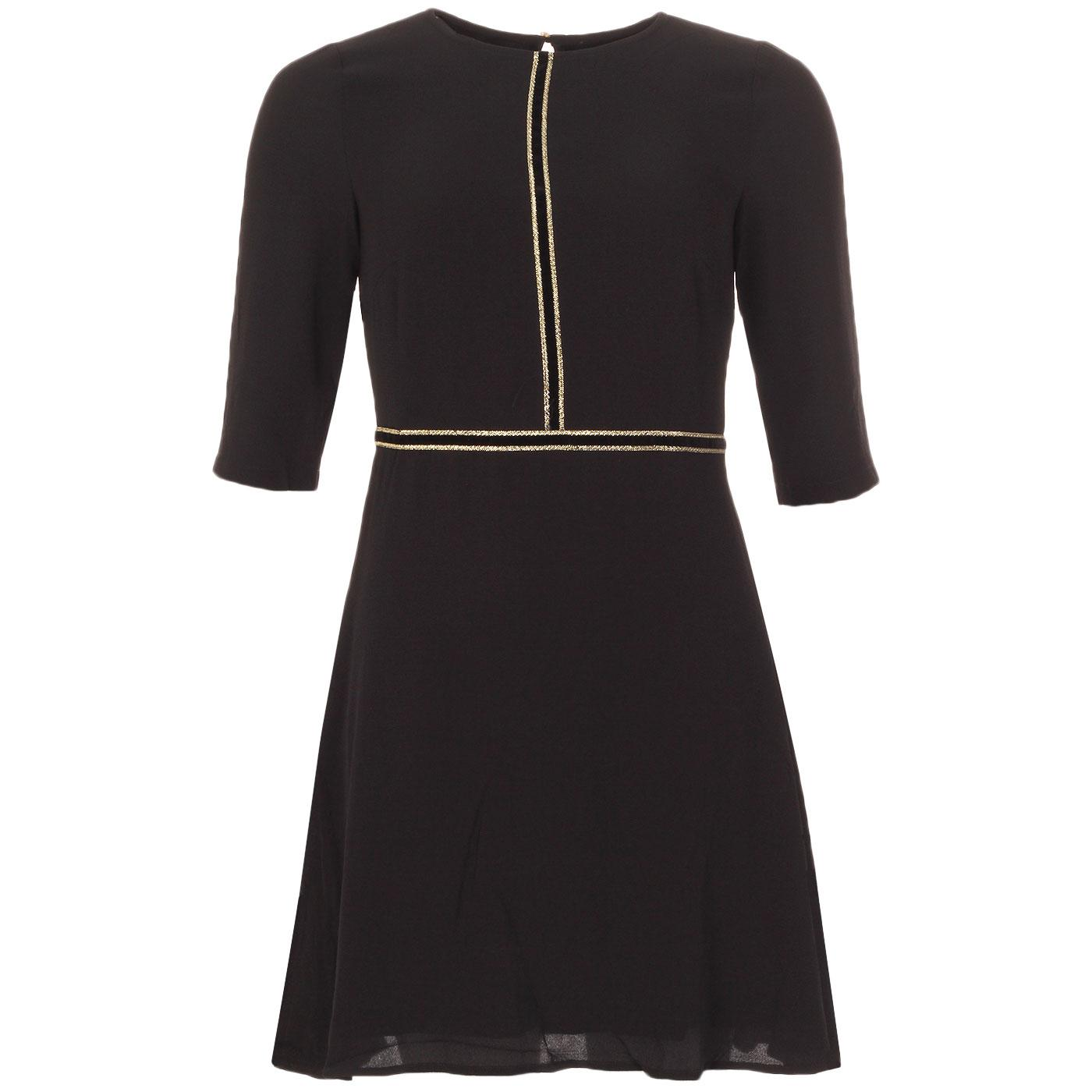All The Trimmings TRAFFIC PEOPLE Piping Trim Dress