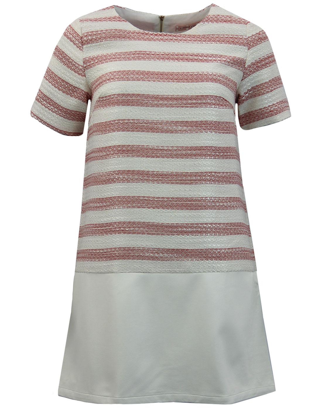 Border TRAFFIC PEOPLE Striped Retro Tunic Dress