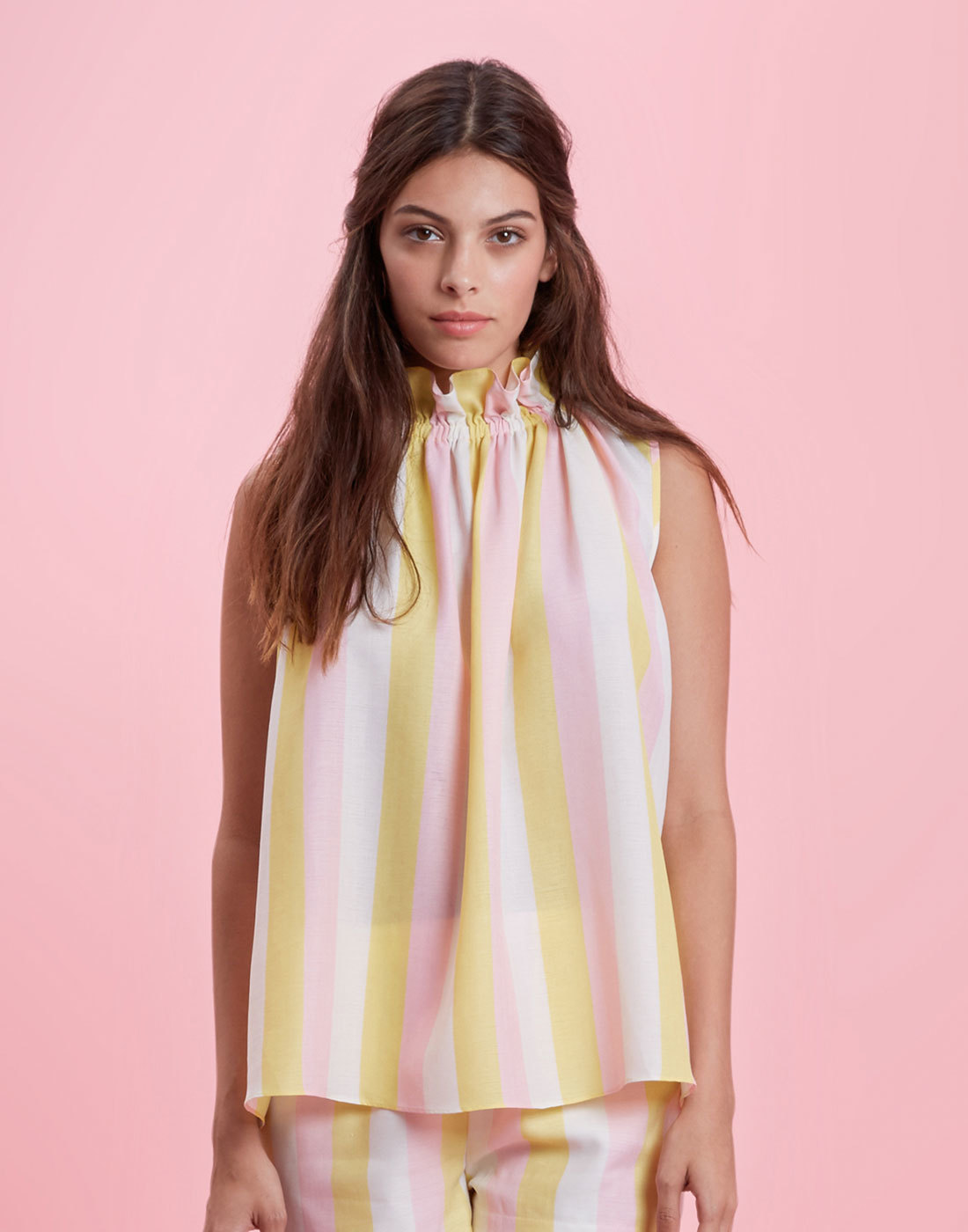 TRAFFIC PEOPLE Retro Candy Stripe Buttercup Top