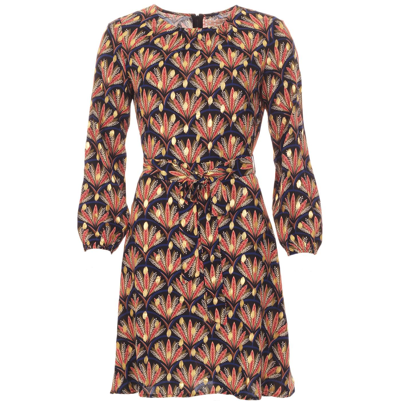 Cusp TRAFFIC PEOPLE Retro 60s Floral Leaf Dress