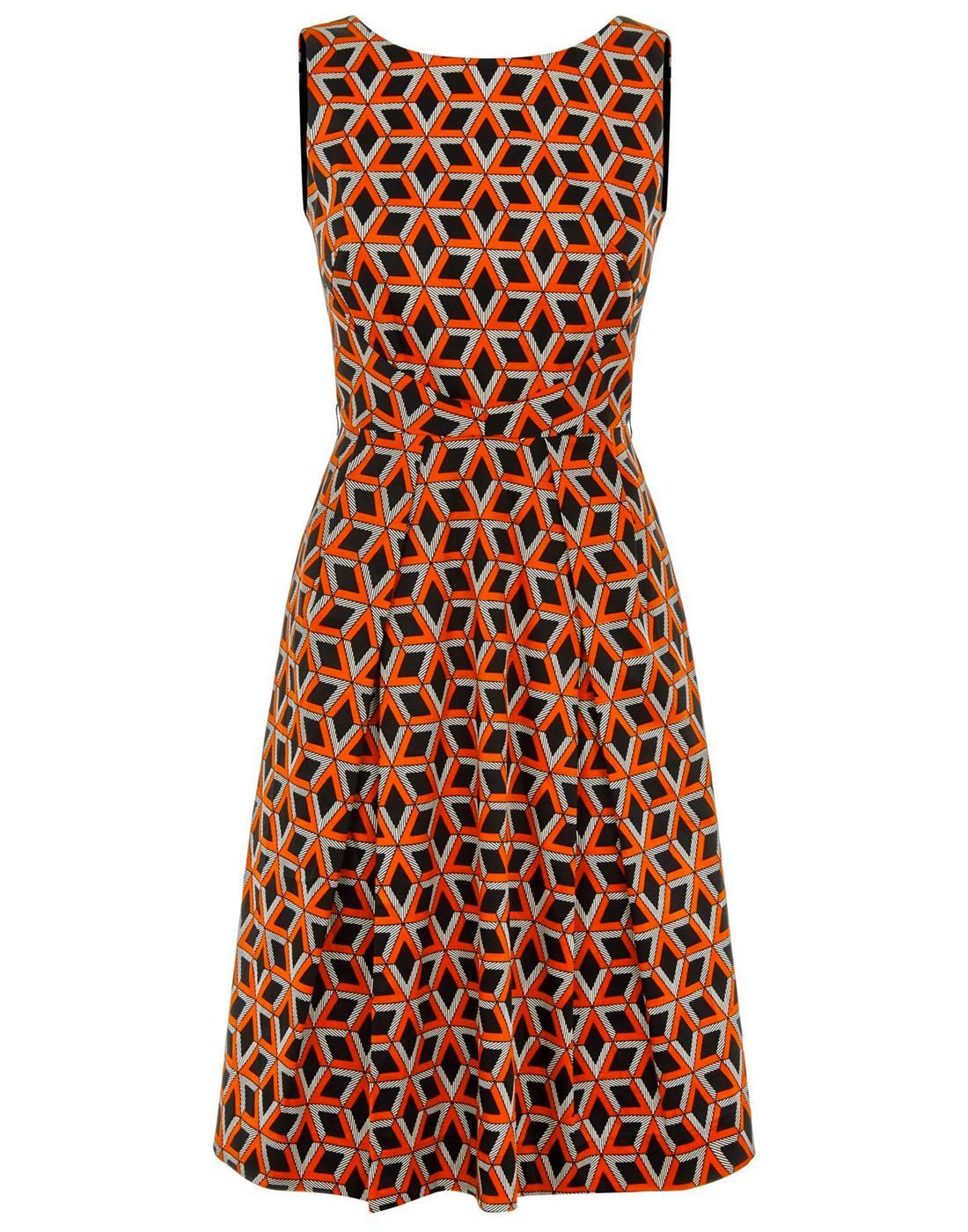 Doris TRAFFIC PEOPLE Retro 60s Pattern Party Dress