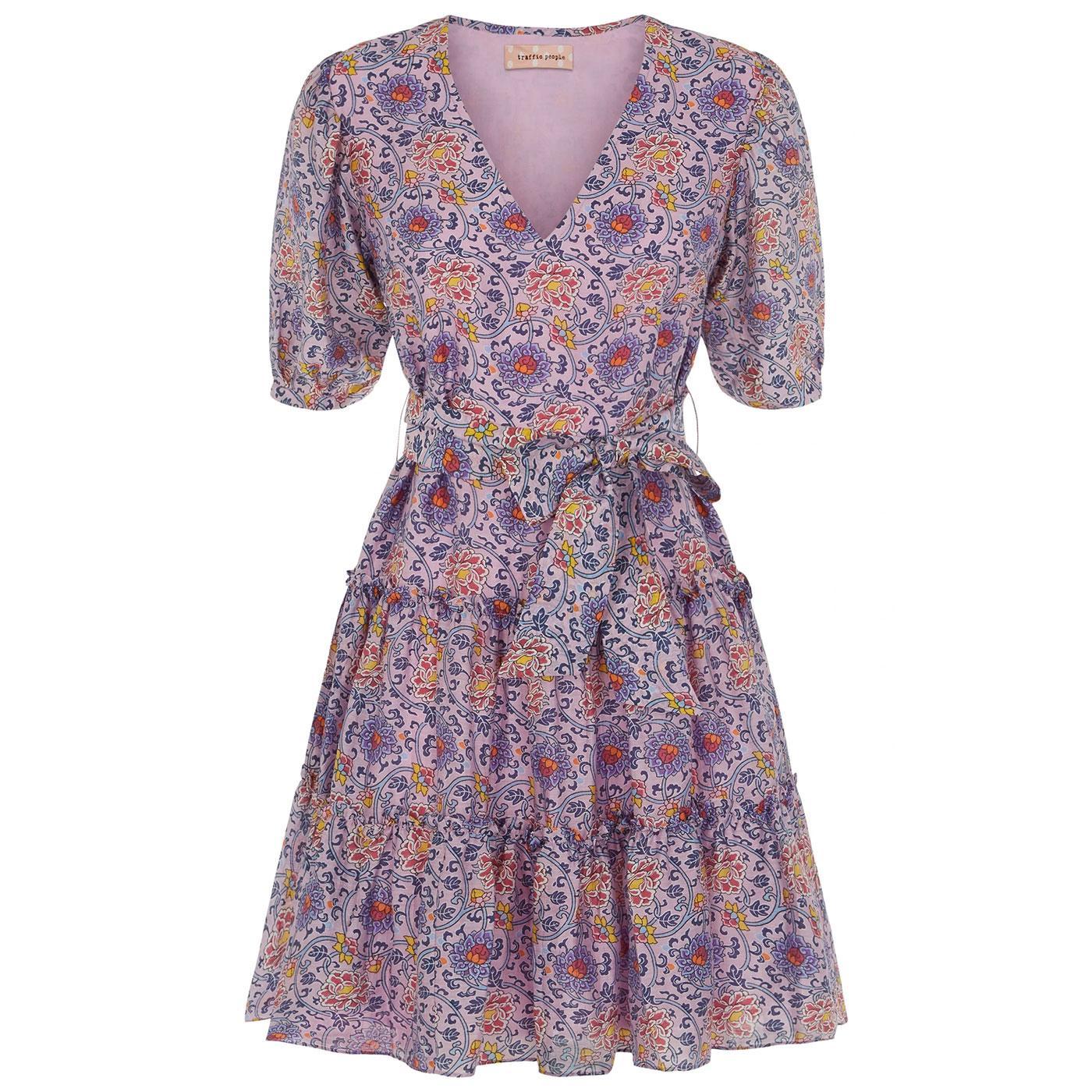 Felicitous TRAFFIC PEOPLE Retro Floral Mini Dress