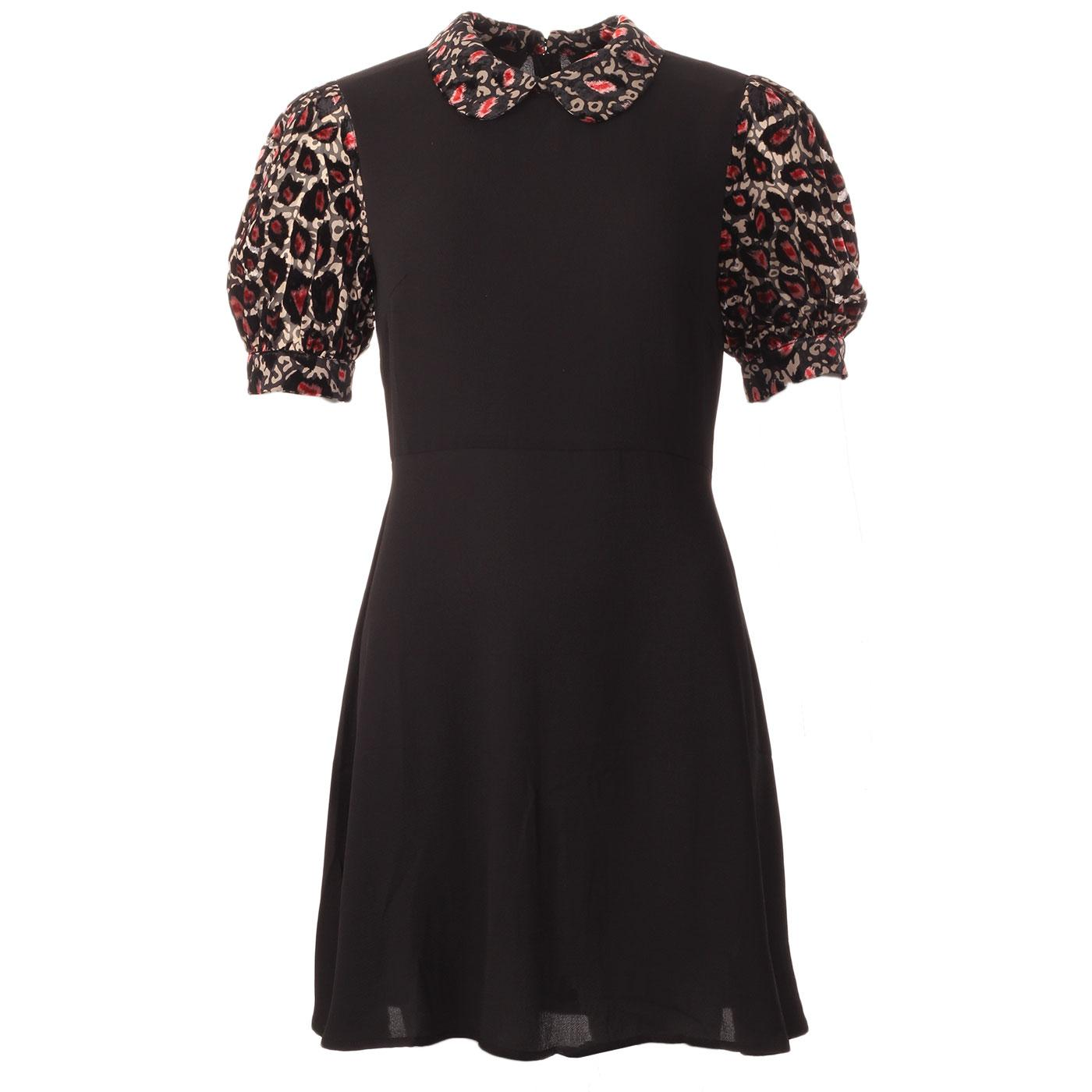 Grace TRAFFIC PEOPLE Retro 60s Contrast Trim Dress