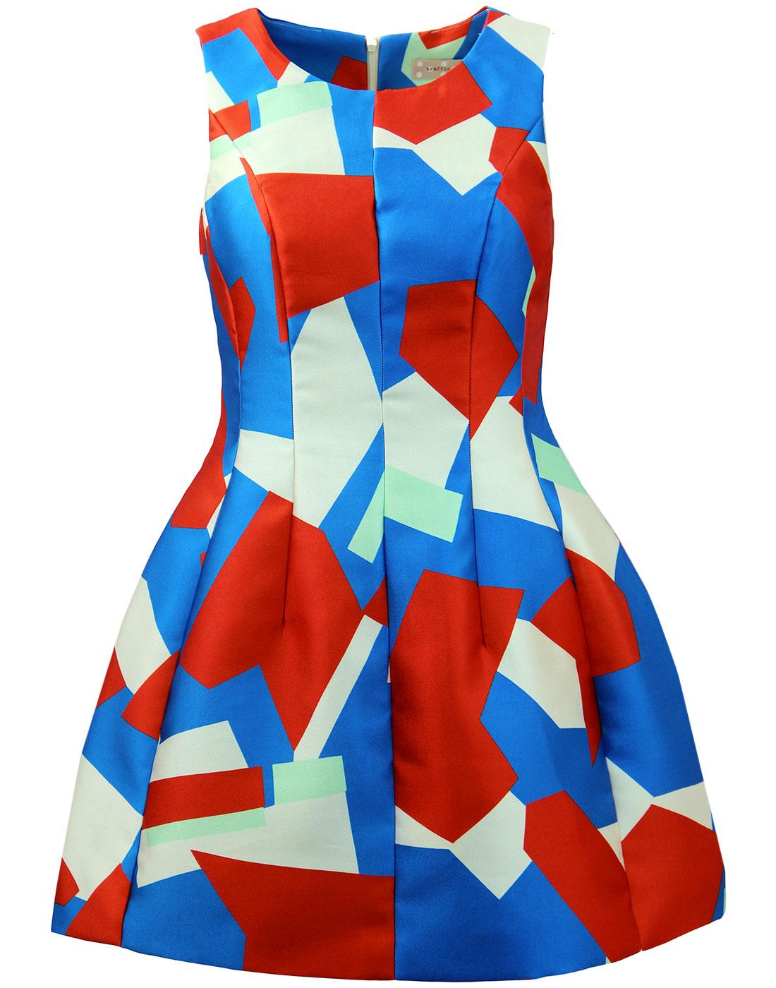 Japer TRAFFIC PEOPLE Geo Print Retro Party Dress
