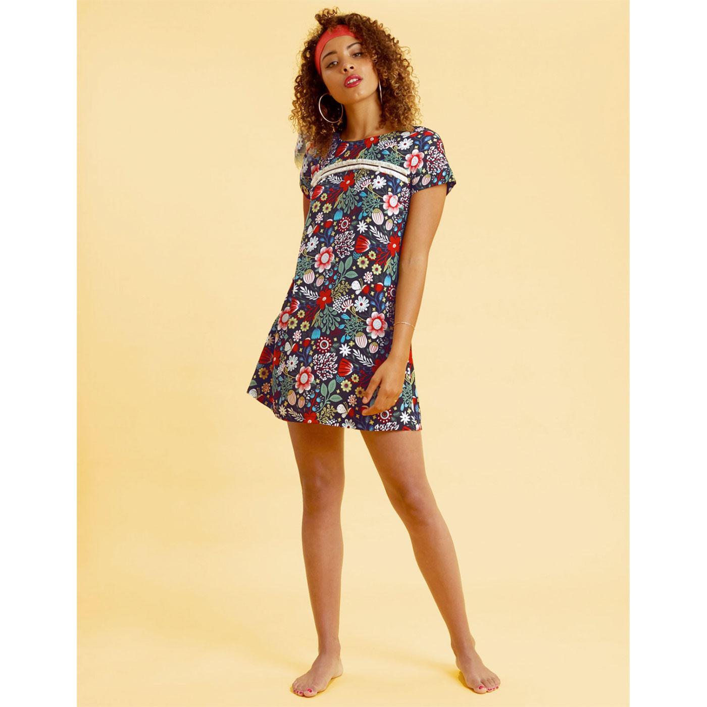 Maude's Meadow TRAFFIC PEOPLE Retro 60s Mod Dress