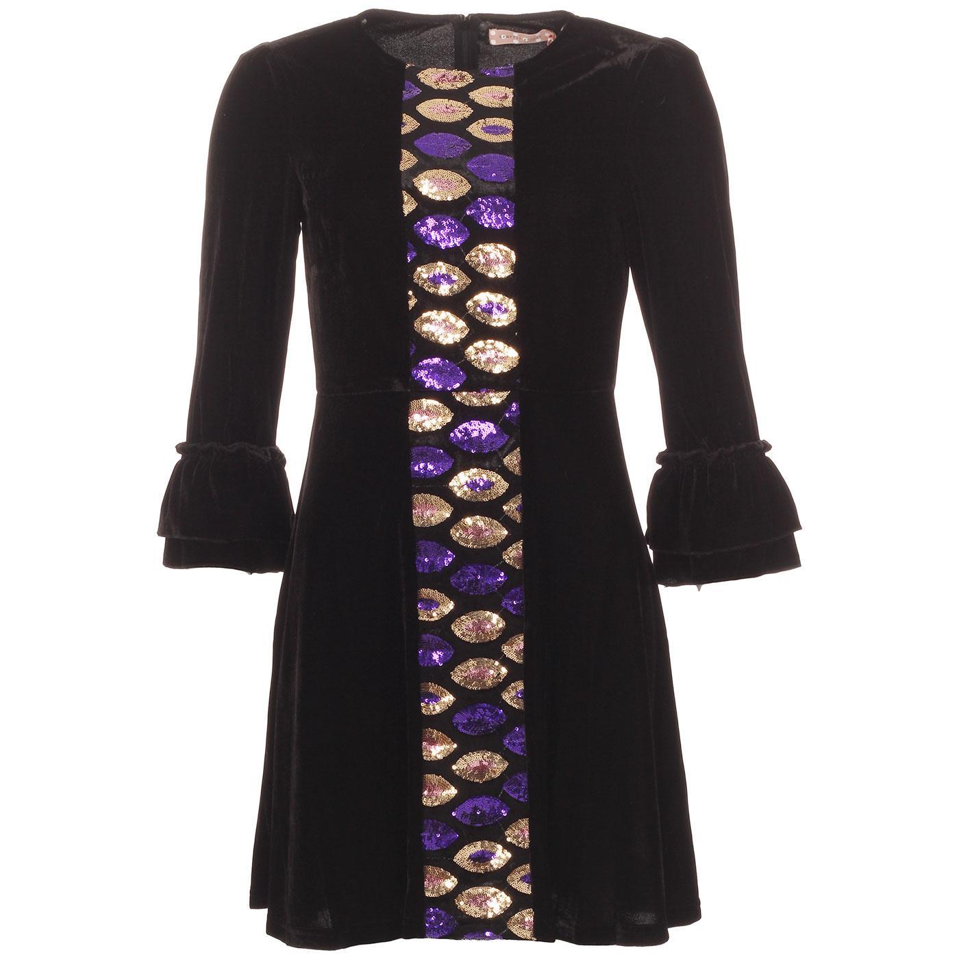 Never Say Goodbye TRAFFIC PEOPLE 60s Velvet Dress