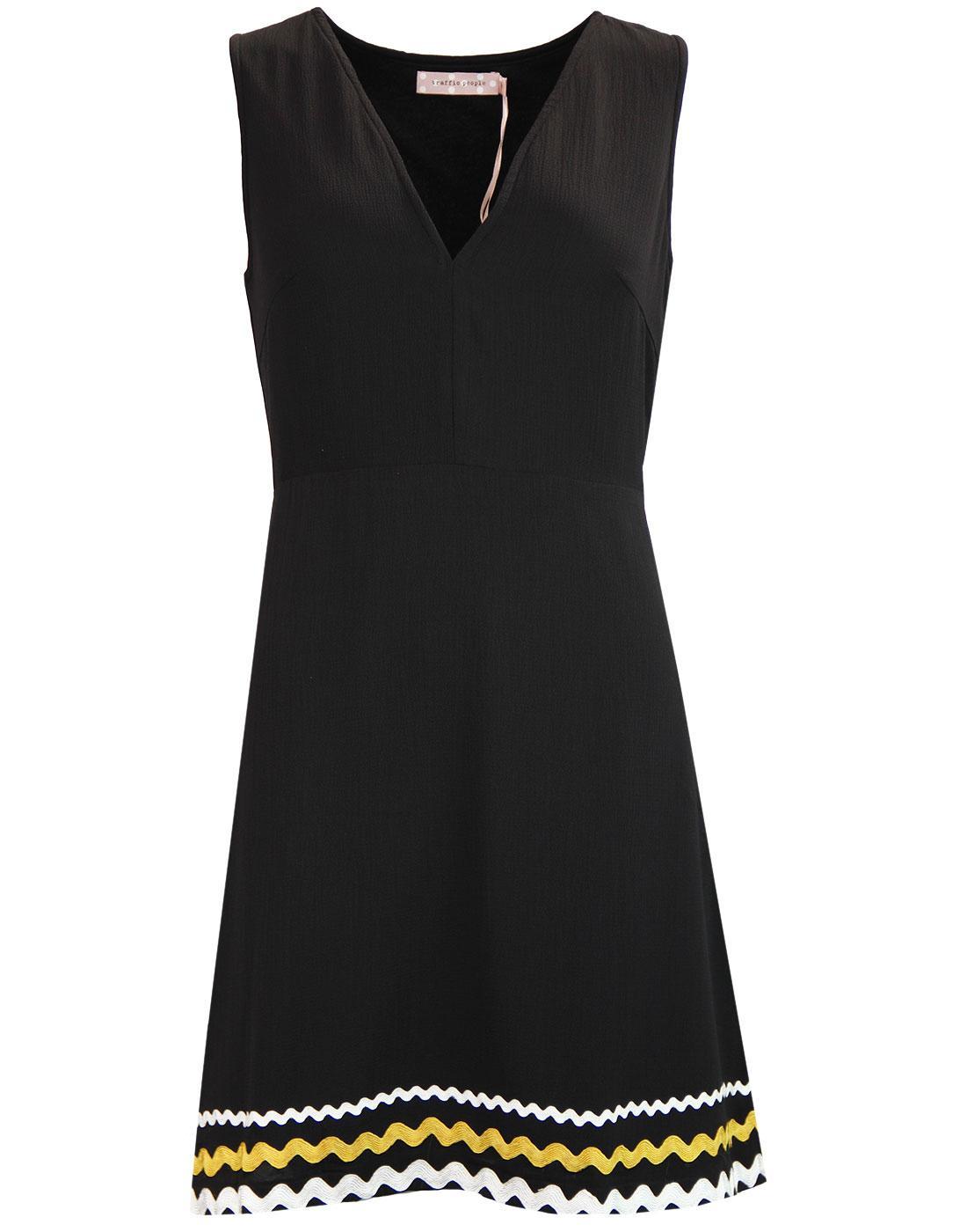 Sweet Promises TRAFFIC PEOPLE 60s Mod Dress BLACK