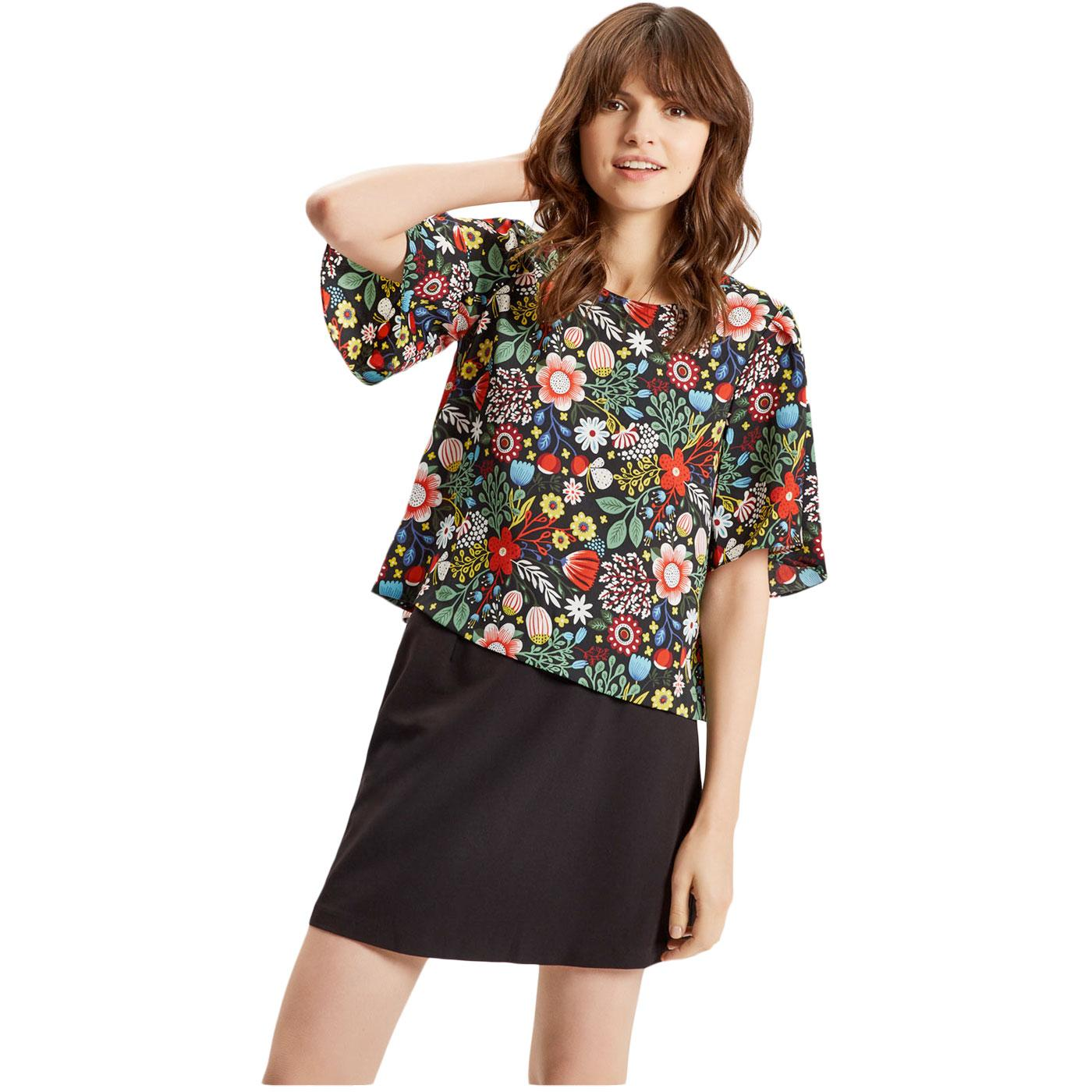 Whisper TRAFFIC PEOPLE Retro 60s Floral Top