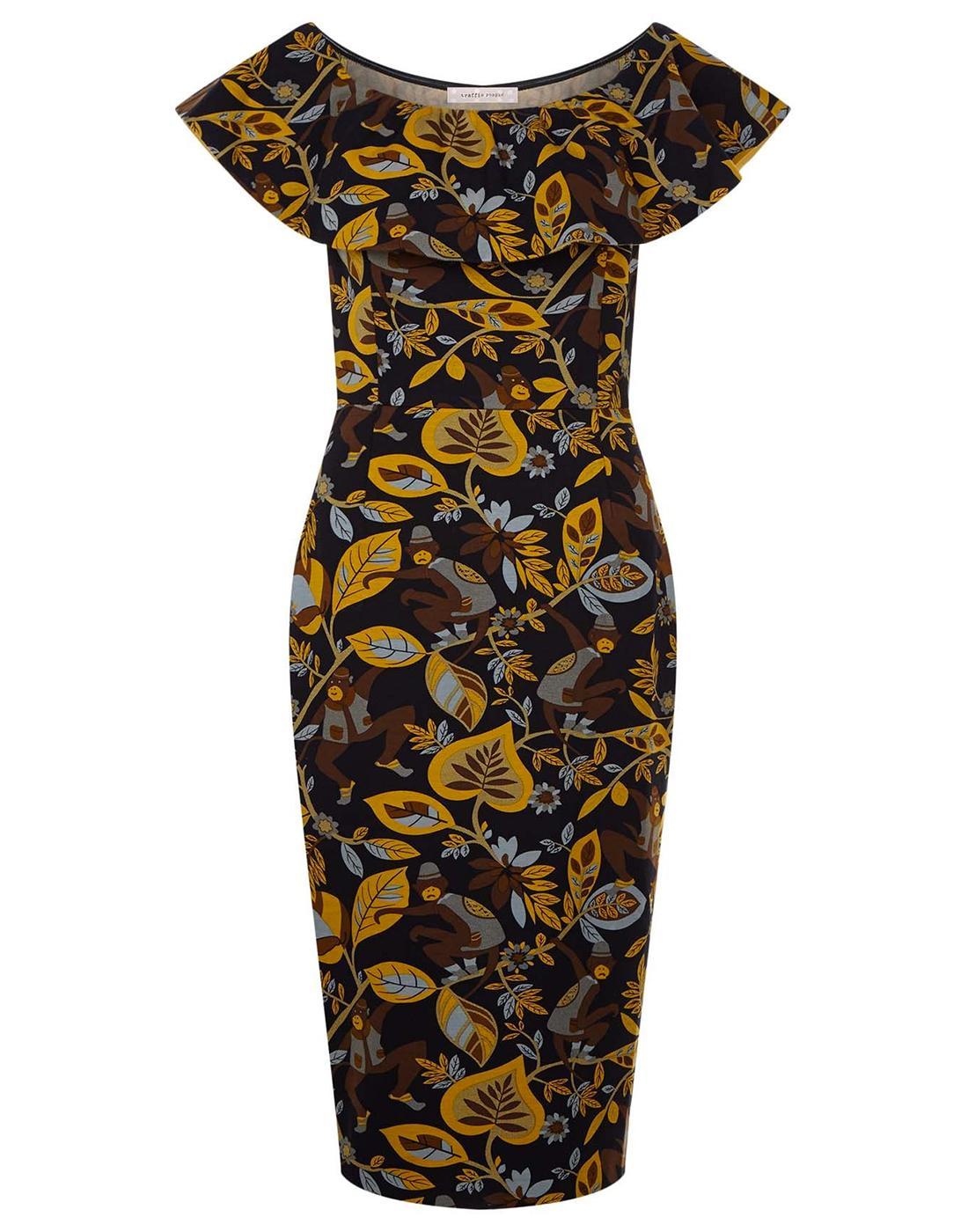 TRAFFIC PEOPLE Retro 50s Vintage Wiggle Dress