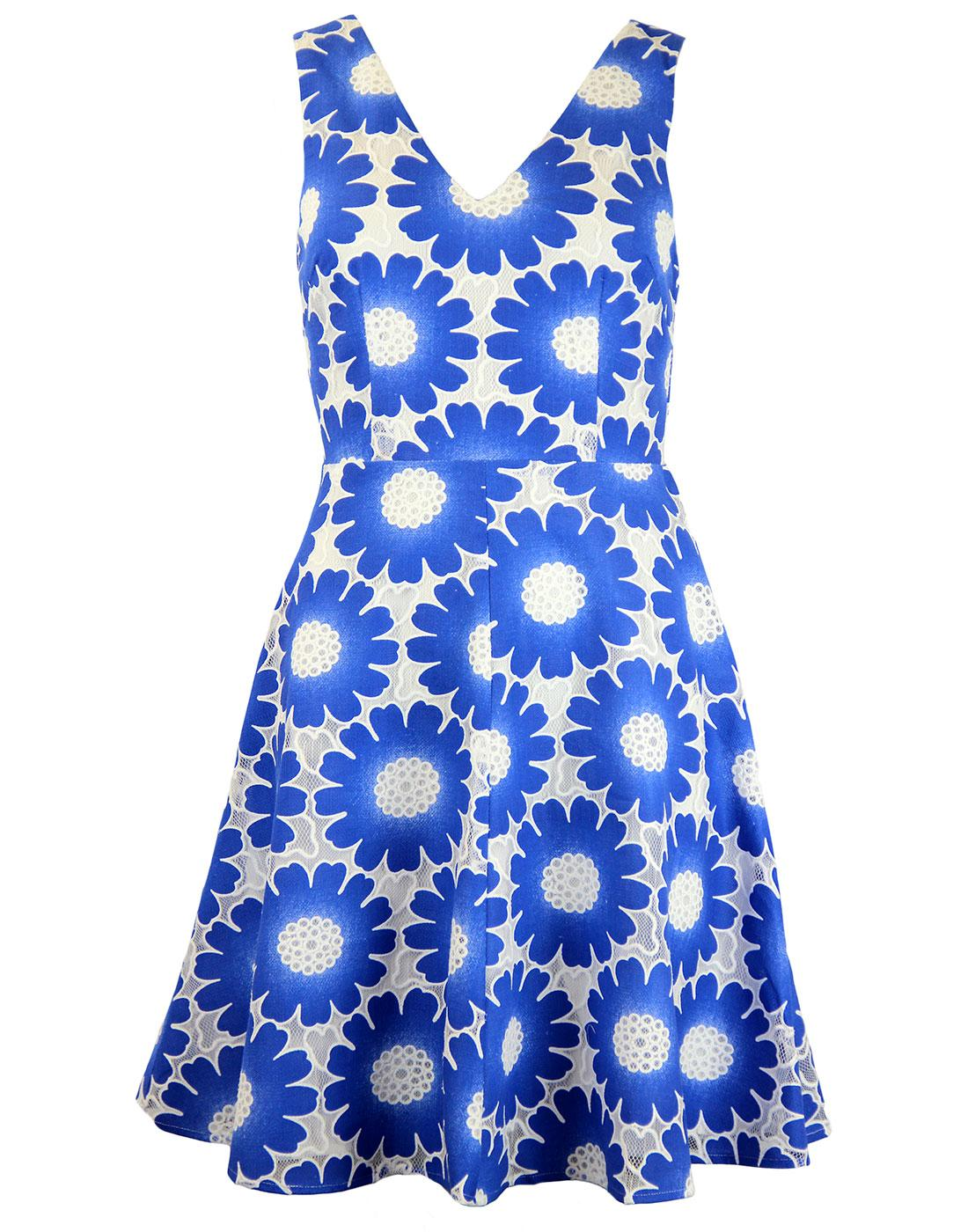 Let's Dance TRAFFIC PEOPLE Retro 60s Floral Dress