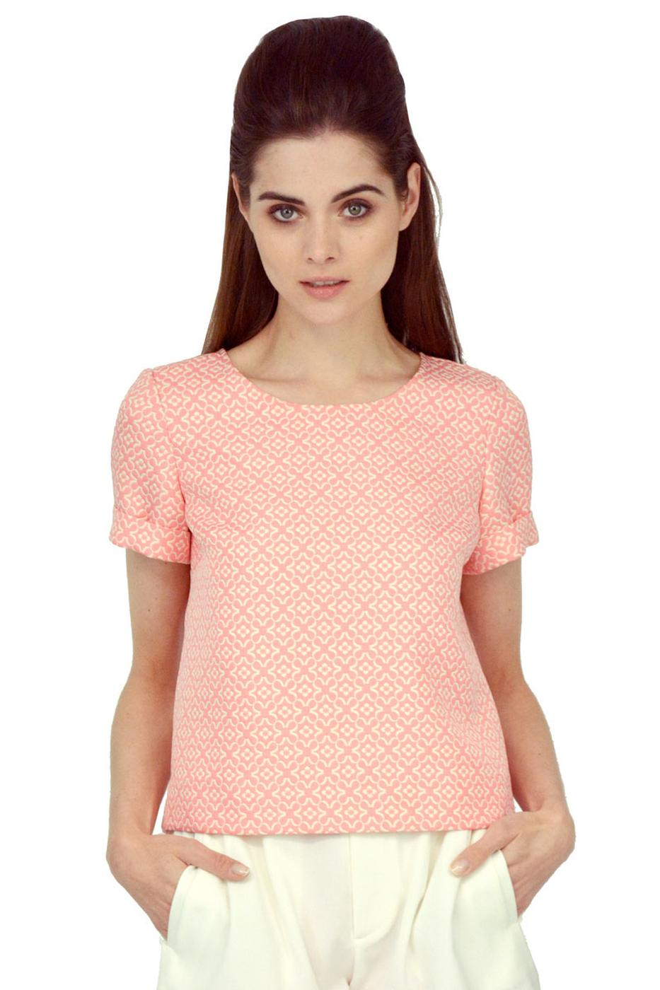 Cloud Watching TRAFFIC PEOPLE Retro 60s Boxy Top