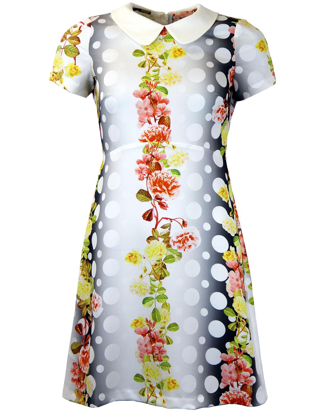 Singing Garlands TRAFFIC PEOPLE 60s Mod Dress