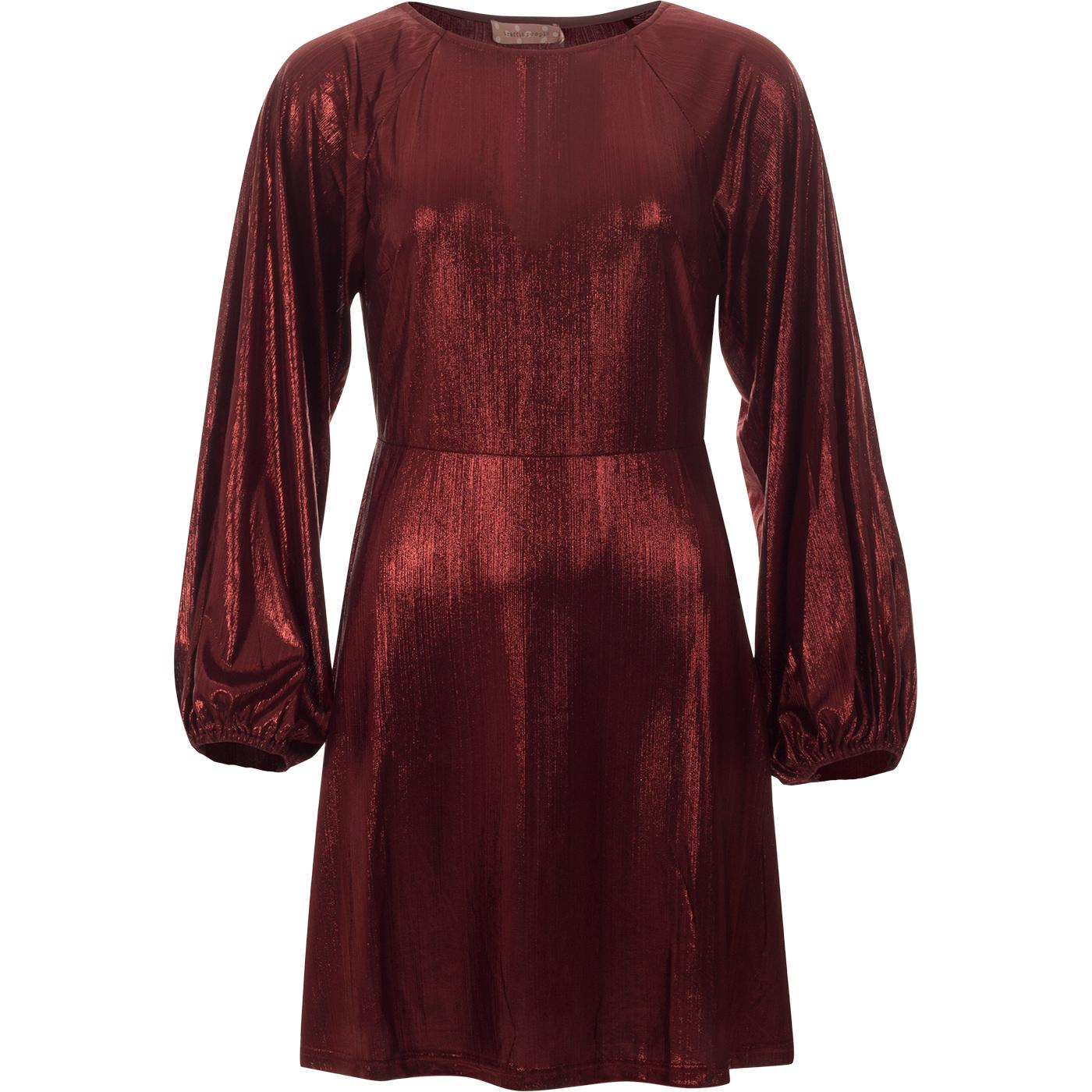 Audrey TRAFFIC PEOPLE Metallic 60s Party Dress