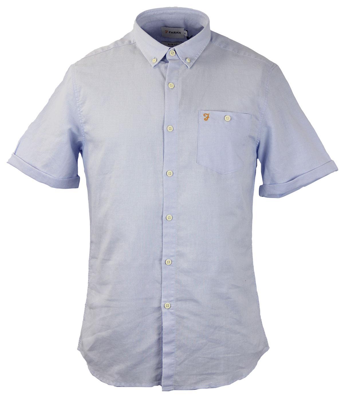 Trent FARAH VINTAGE Retro Mod S/S Ramie Shirt (IB)