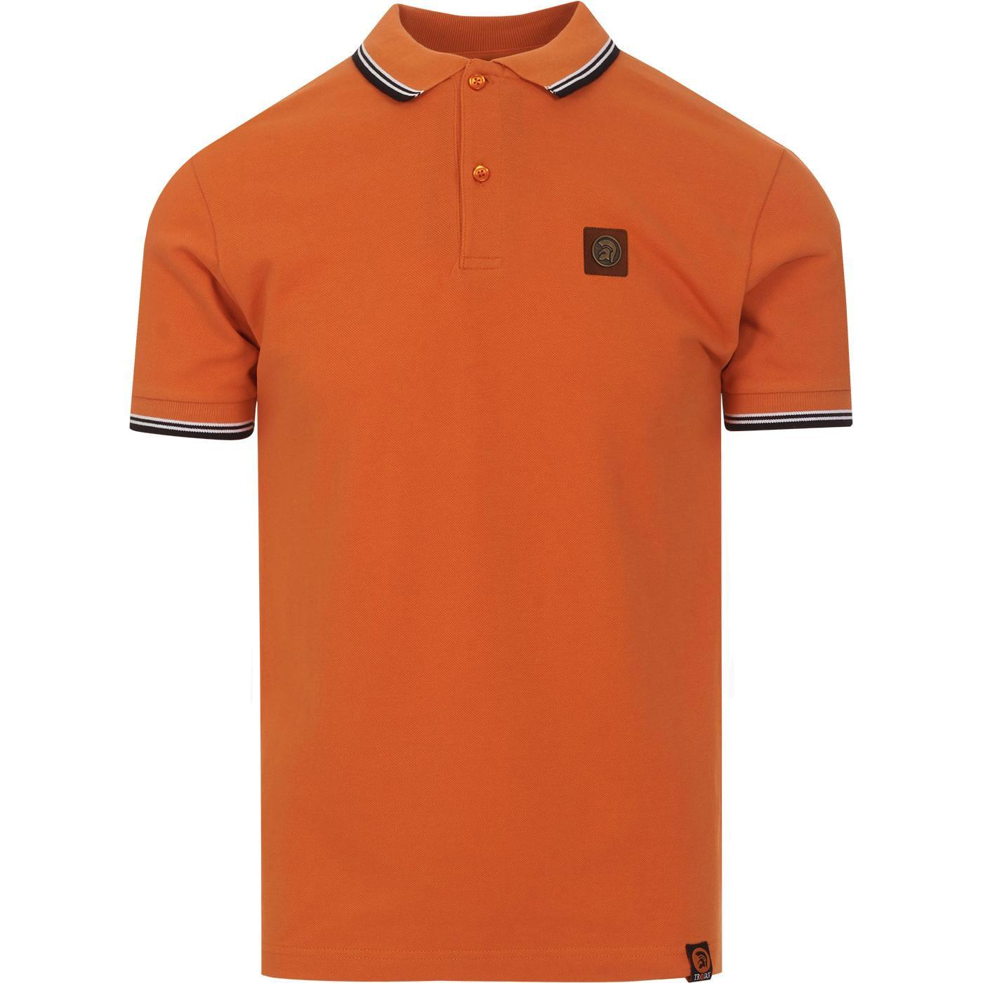 TROJAN RECORDS Classic Mod Tipped Polo (Orange)