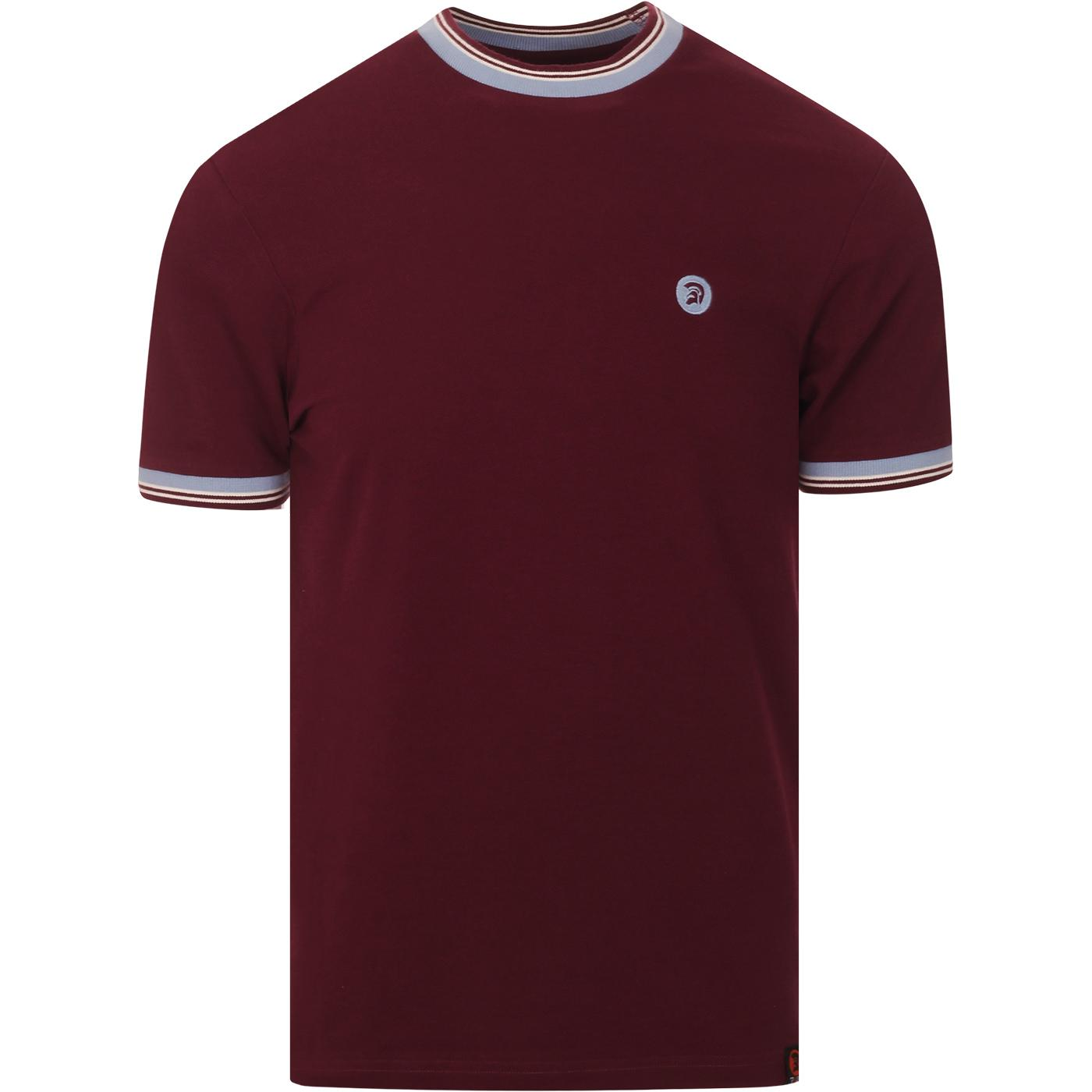 TROJAN RECORDS Contrast Trim Pique Ringer Tee PORT