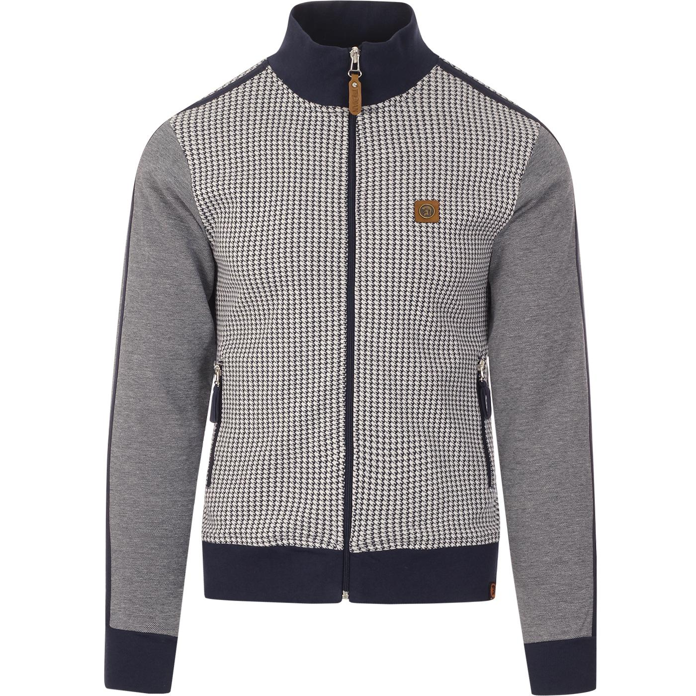 TROJAN RECORDS Mod Dogtooth Panel Track Jacket (N)