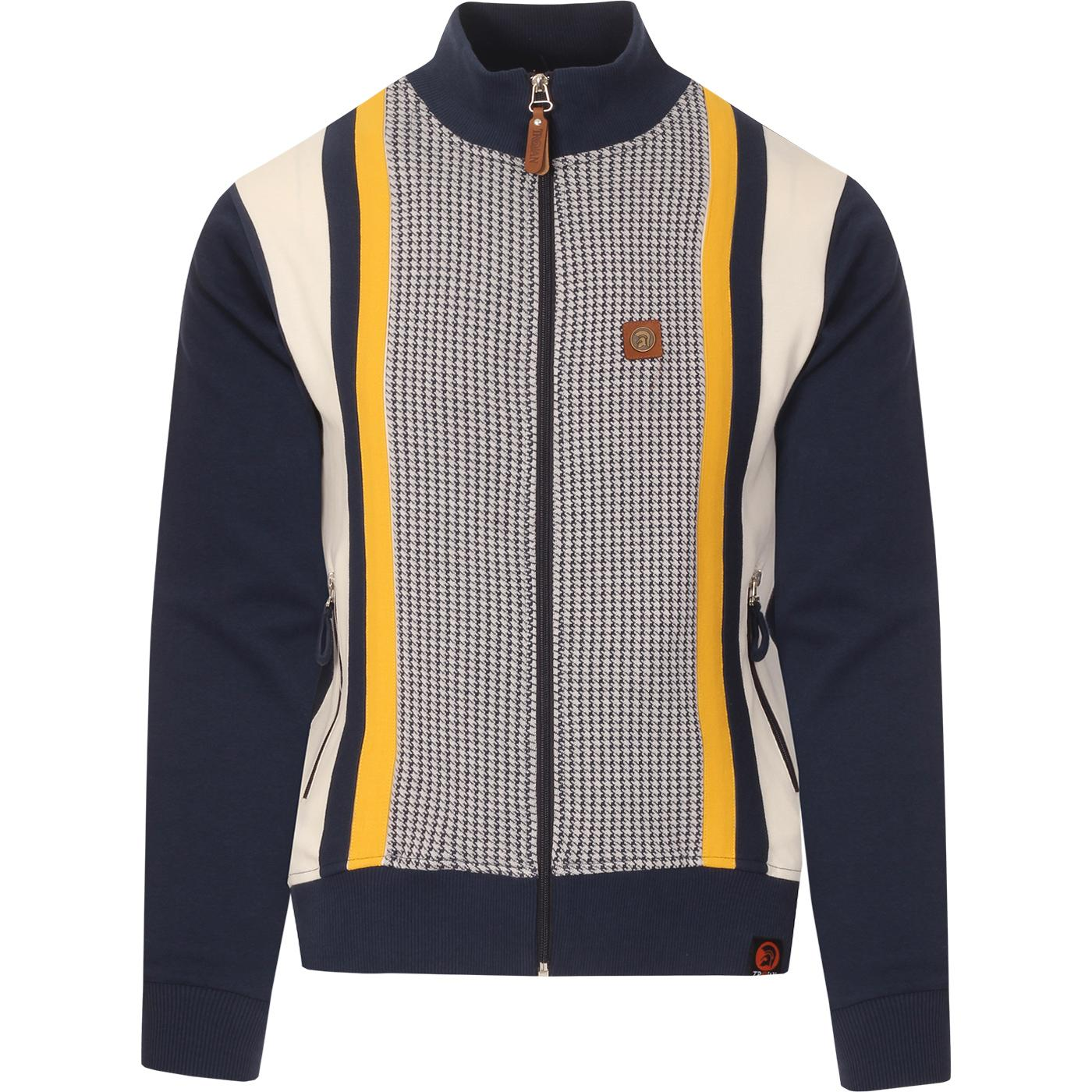 TROJAN RECORDS Mod Dogtooth Panel Track Top (N)