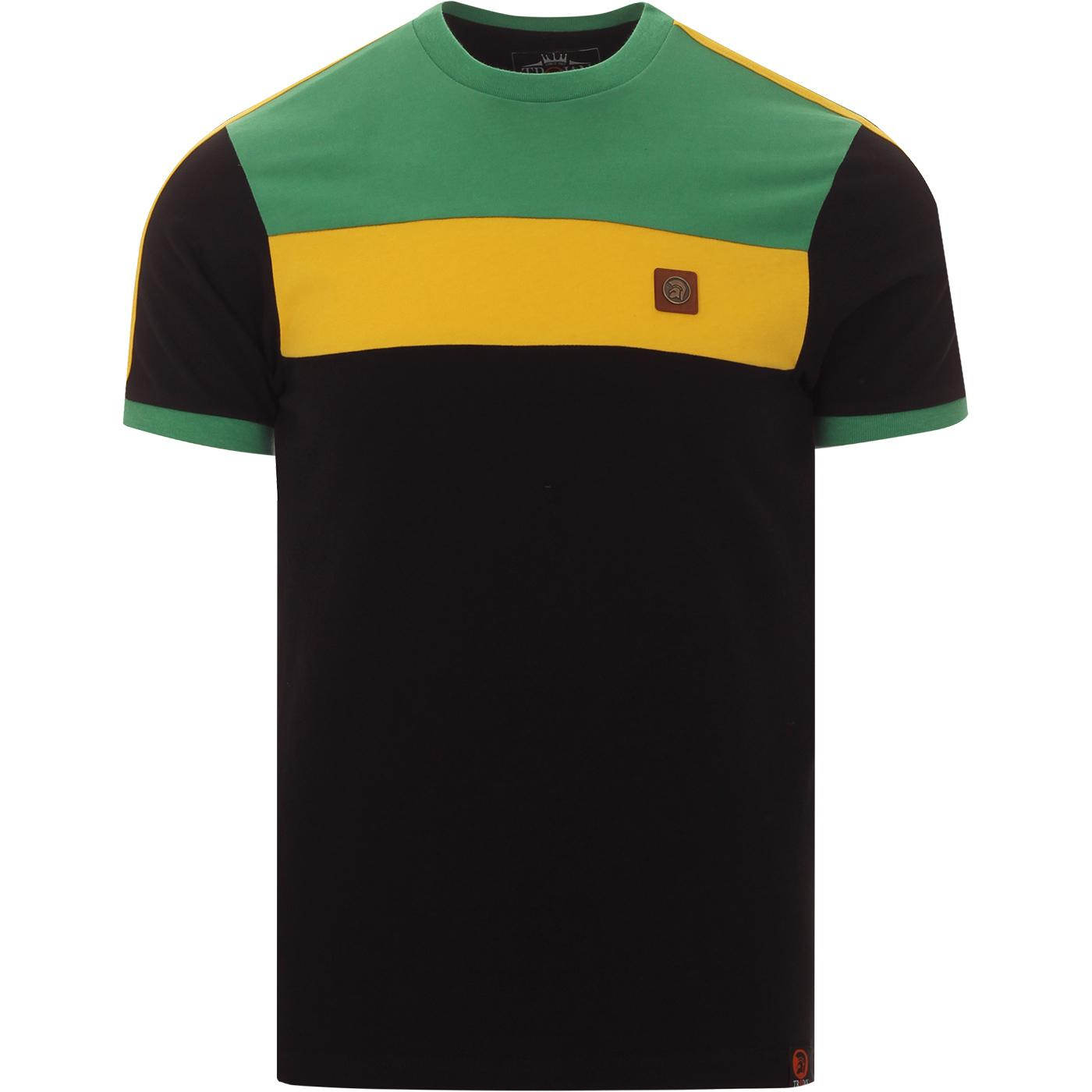 TROJAN RECORDS Retro Jamaica Colour Block Tee