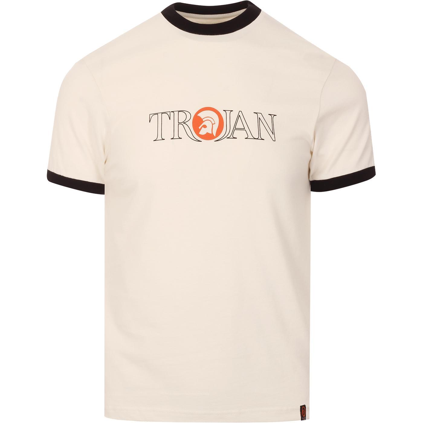 TROJAN RECORDS Retro Outline Logo Ringer T-Shirt E