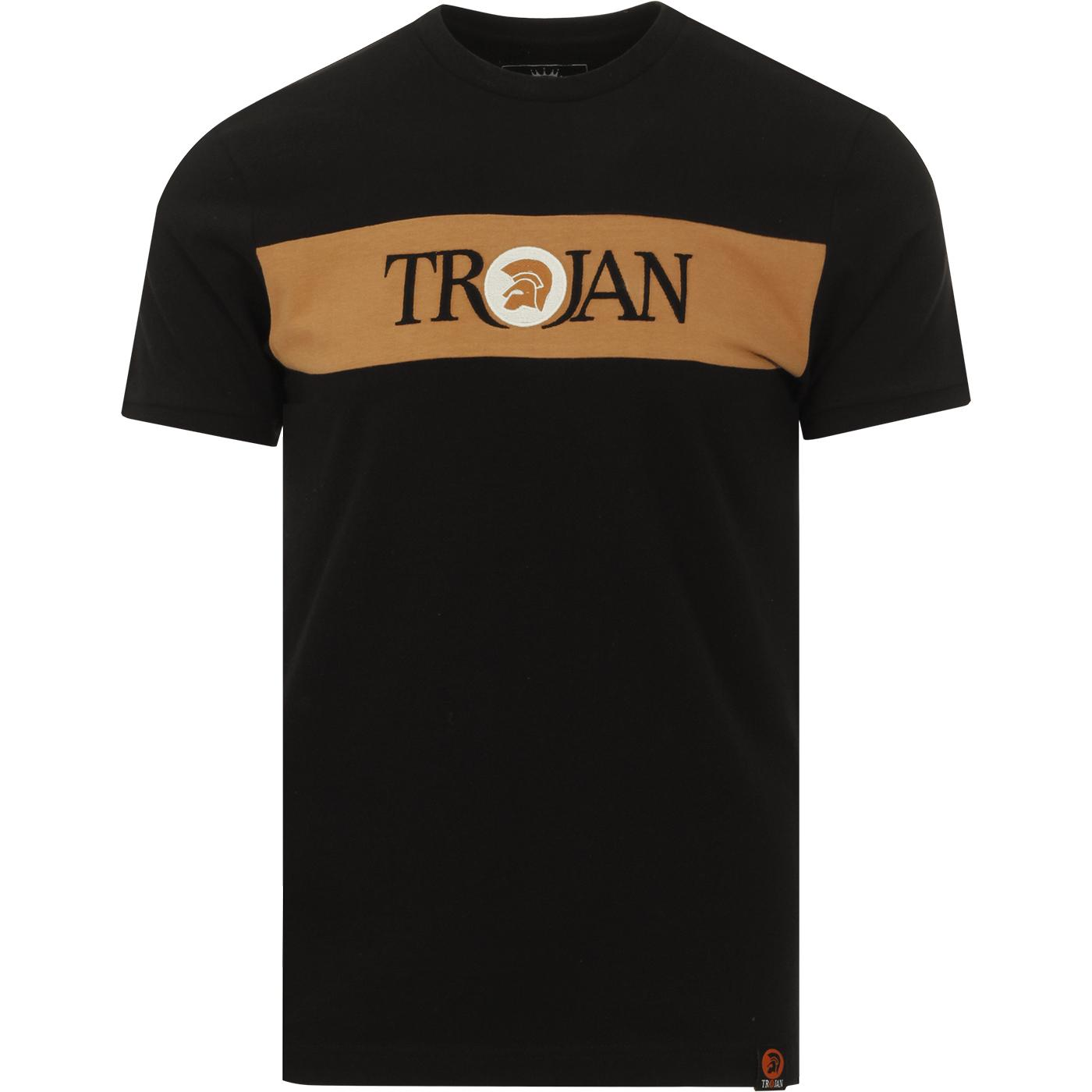 TROJAN RECORDS Mod Block Stripe Signature Tee (B)