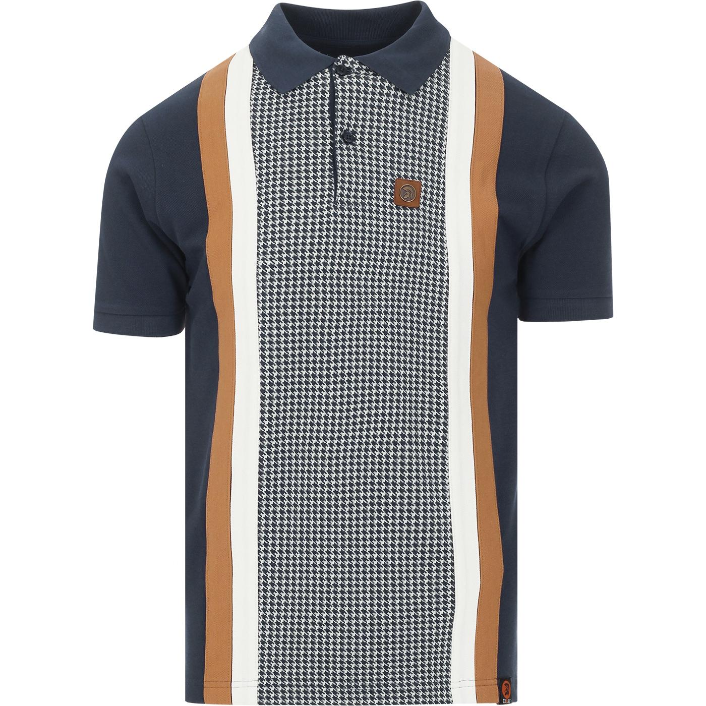 TROJAN RECORDS Mod Dogtooth Braces Stripe Polo (N)